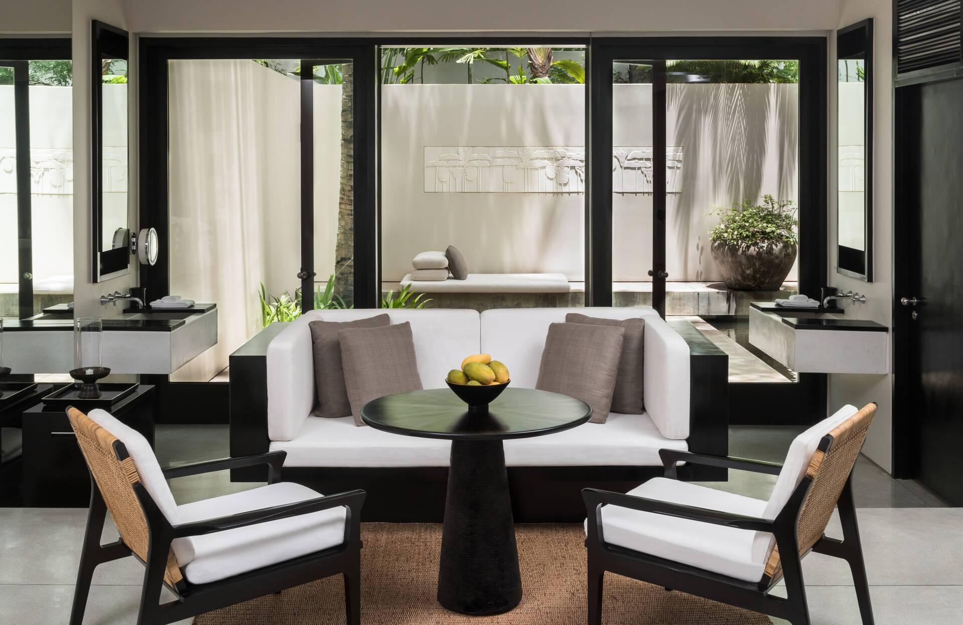 Amansara Courtyard Suite Lounge Cambodge