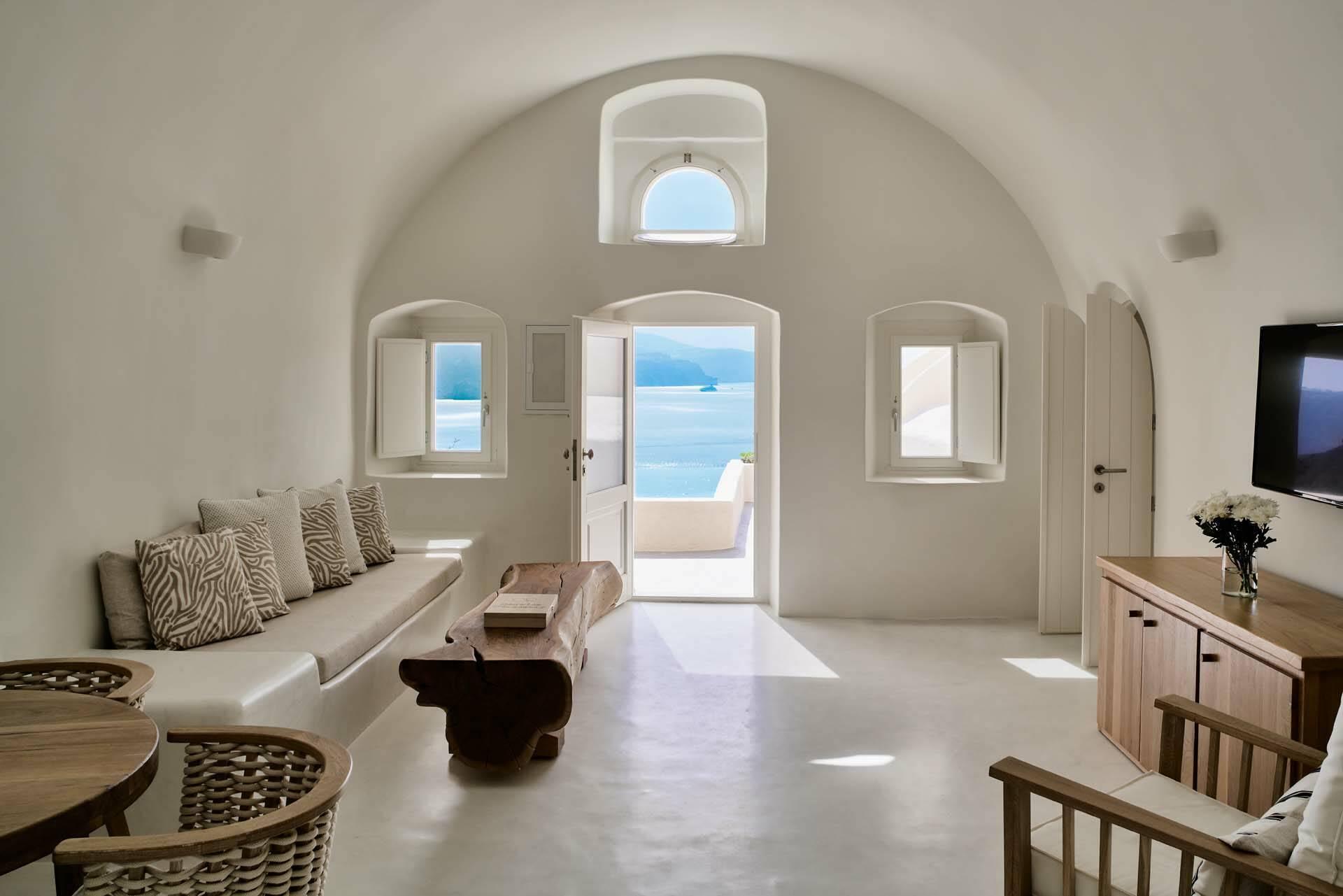 Mystique Santorin Holistic Villa Living Area