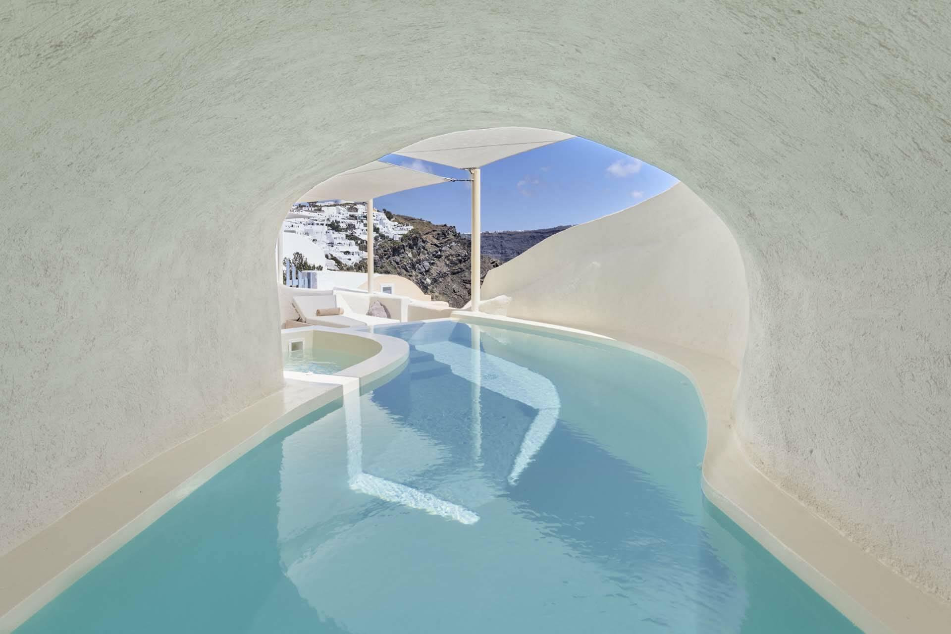 Mystique Santorin Villa Cave Pool
