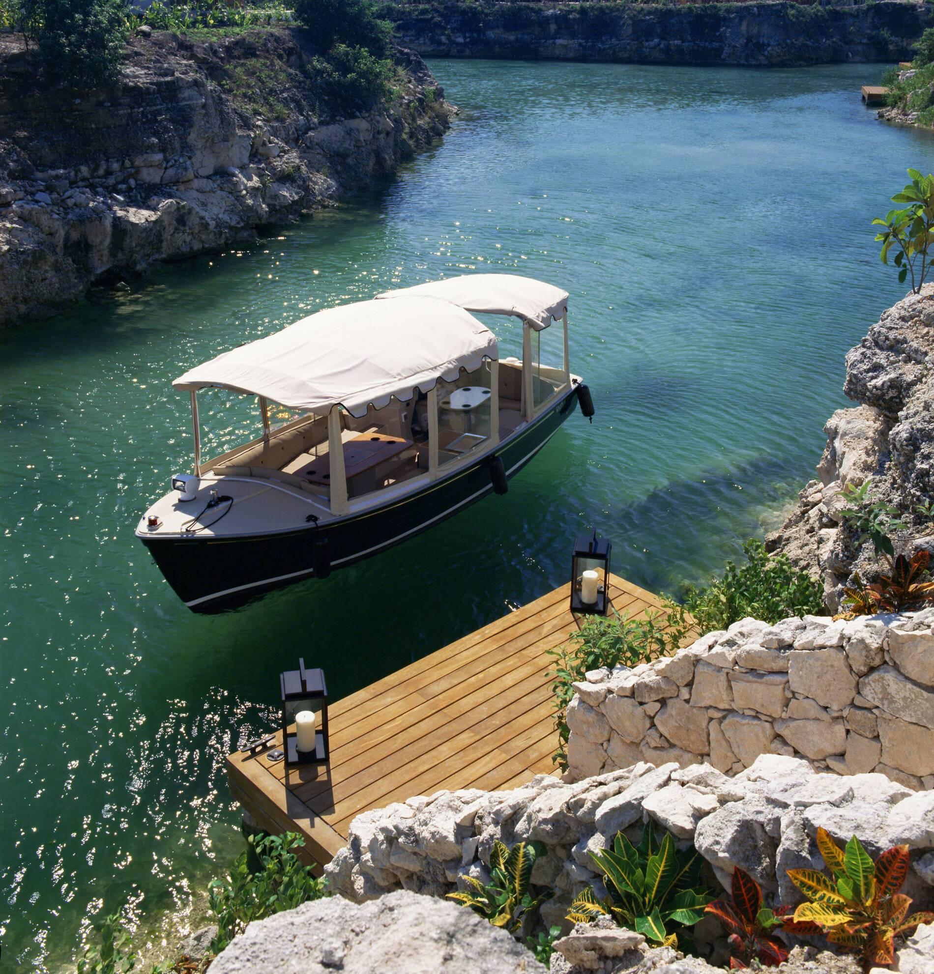 Rosewood Mayakoba Mexique Arrival BoatDock