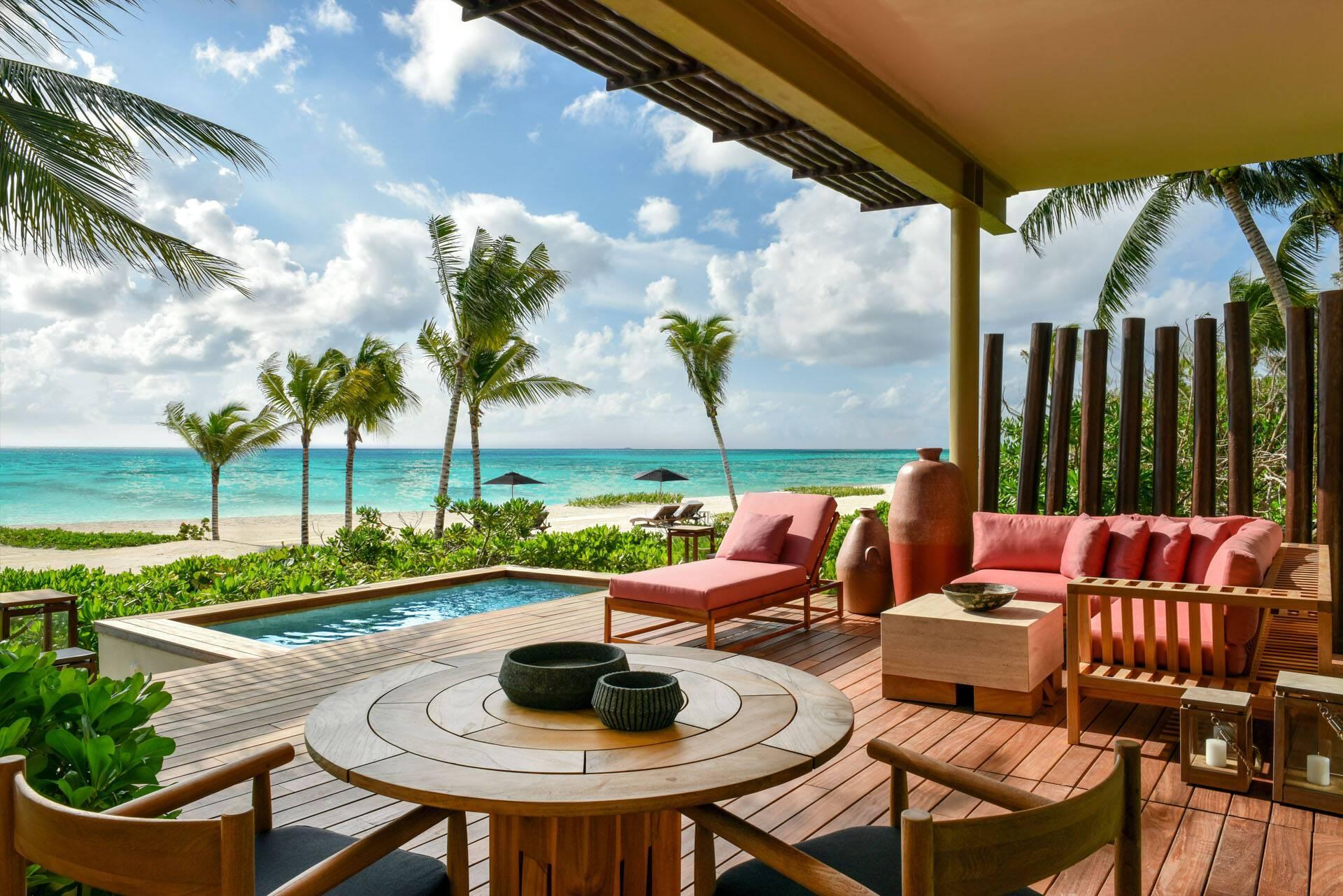 Rosewood Mayakoba Mexique Beachfront Studio Suite Terrasse