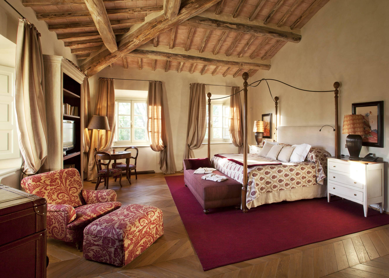 Rosewood Castiglion Bosco Toscane Villa Biondi Chambre