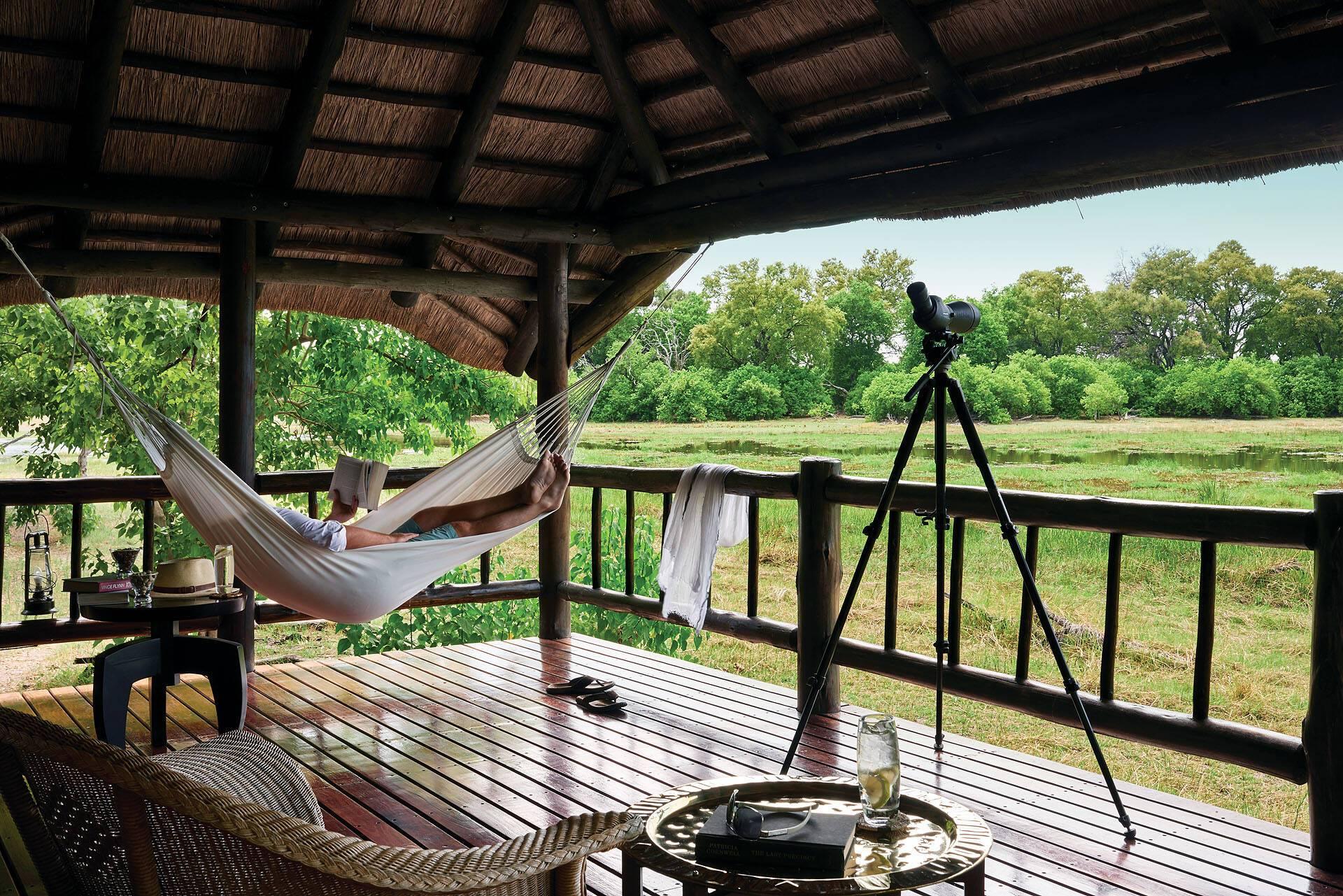 Belmond Khwai River Lodge Terrasse Botswana