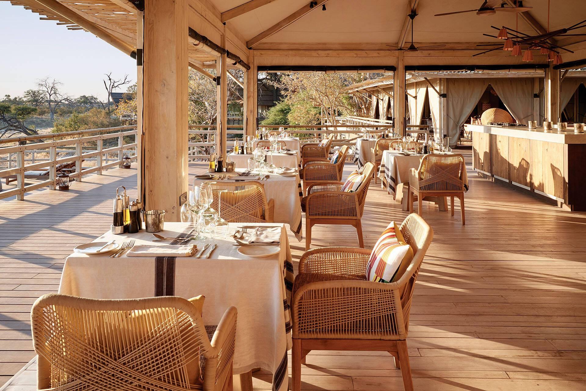 Belmond Savute Elephant Lodge Restaurant Chobe Botswana