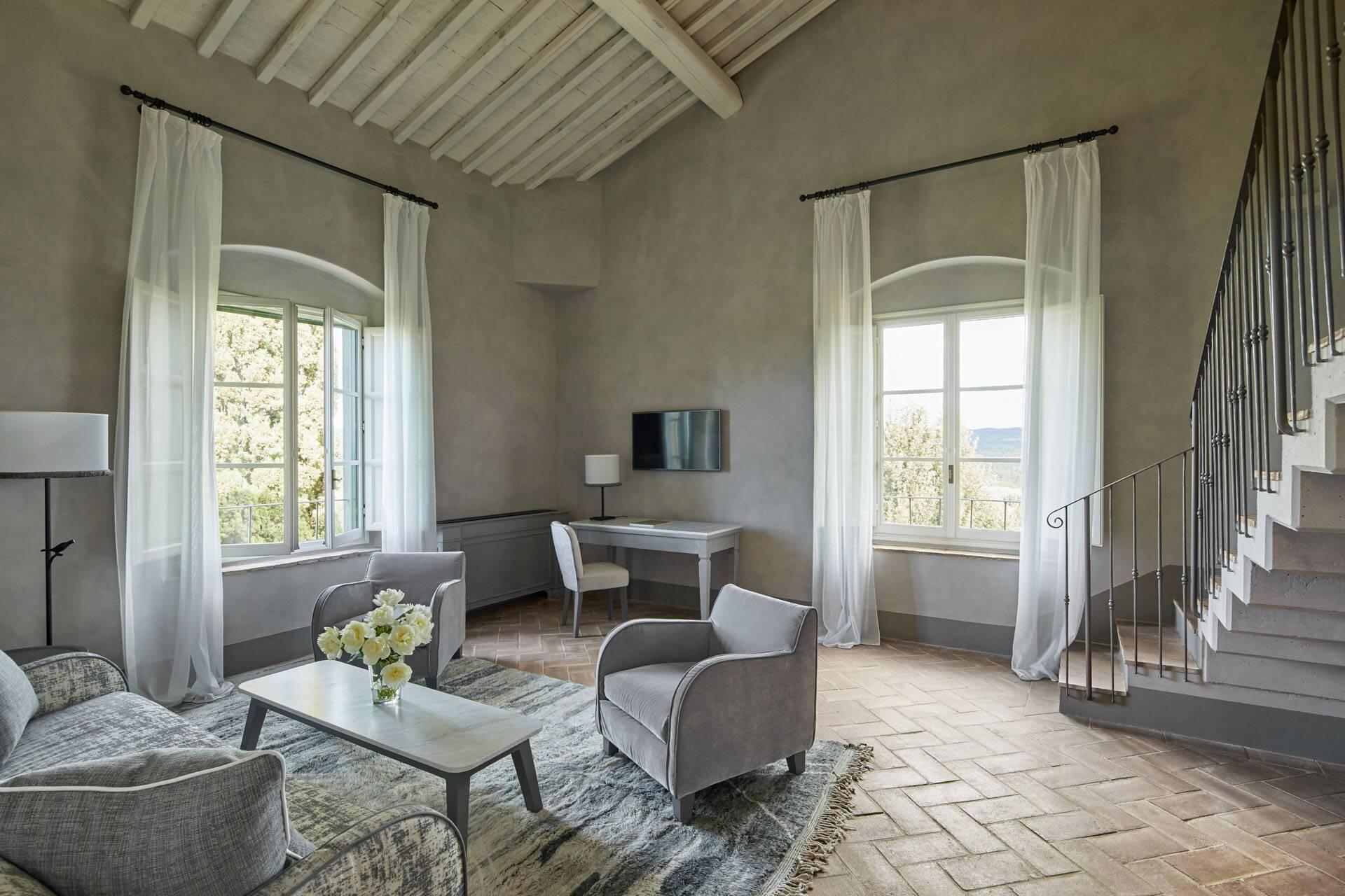 Como Castello del Nero Toscane Loft Suite Living Room