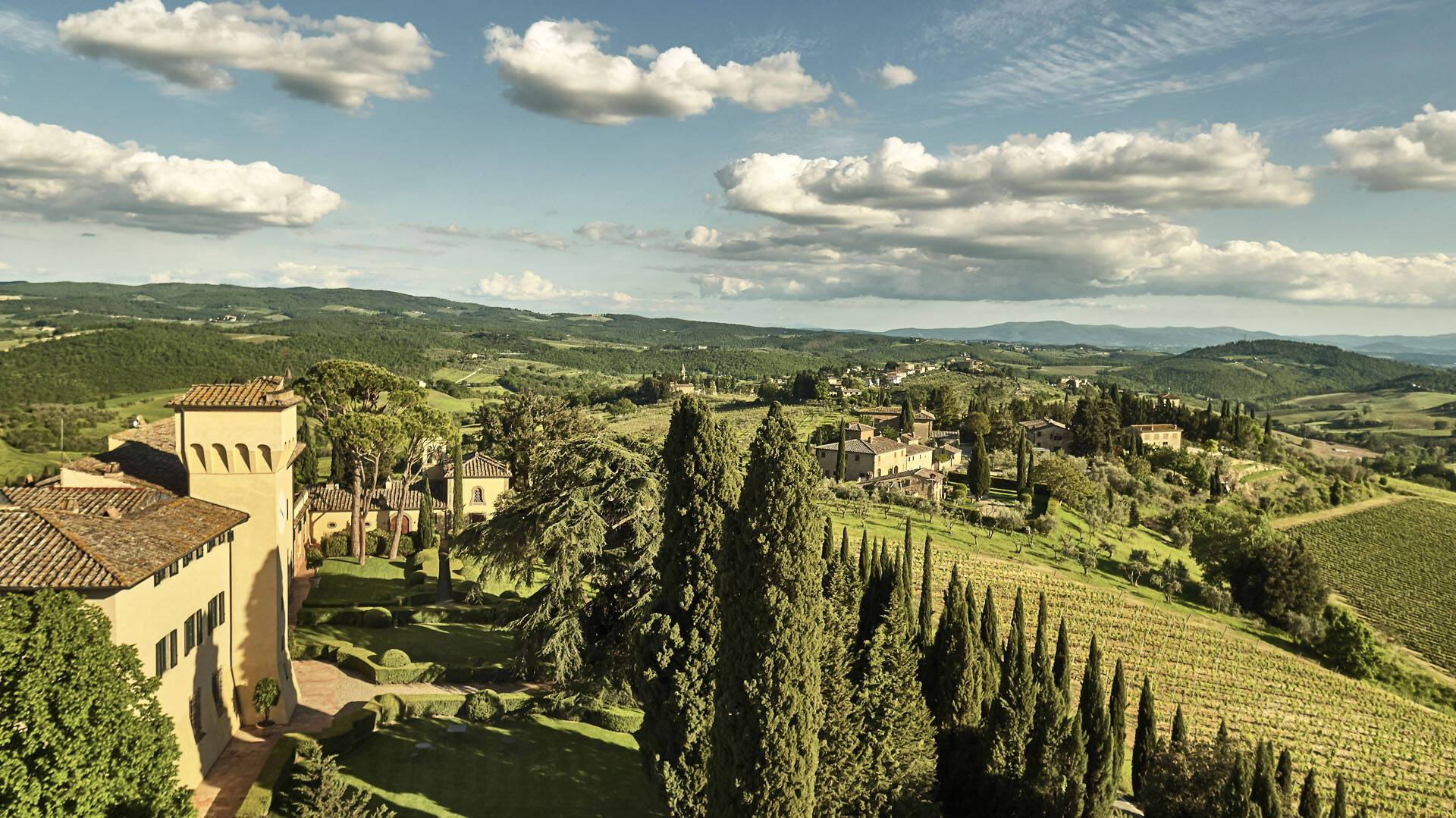 Como Castello del Nero Toscane Vue Campagne