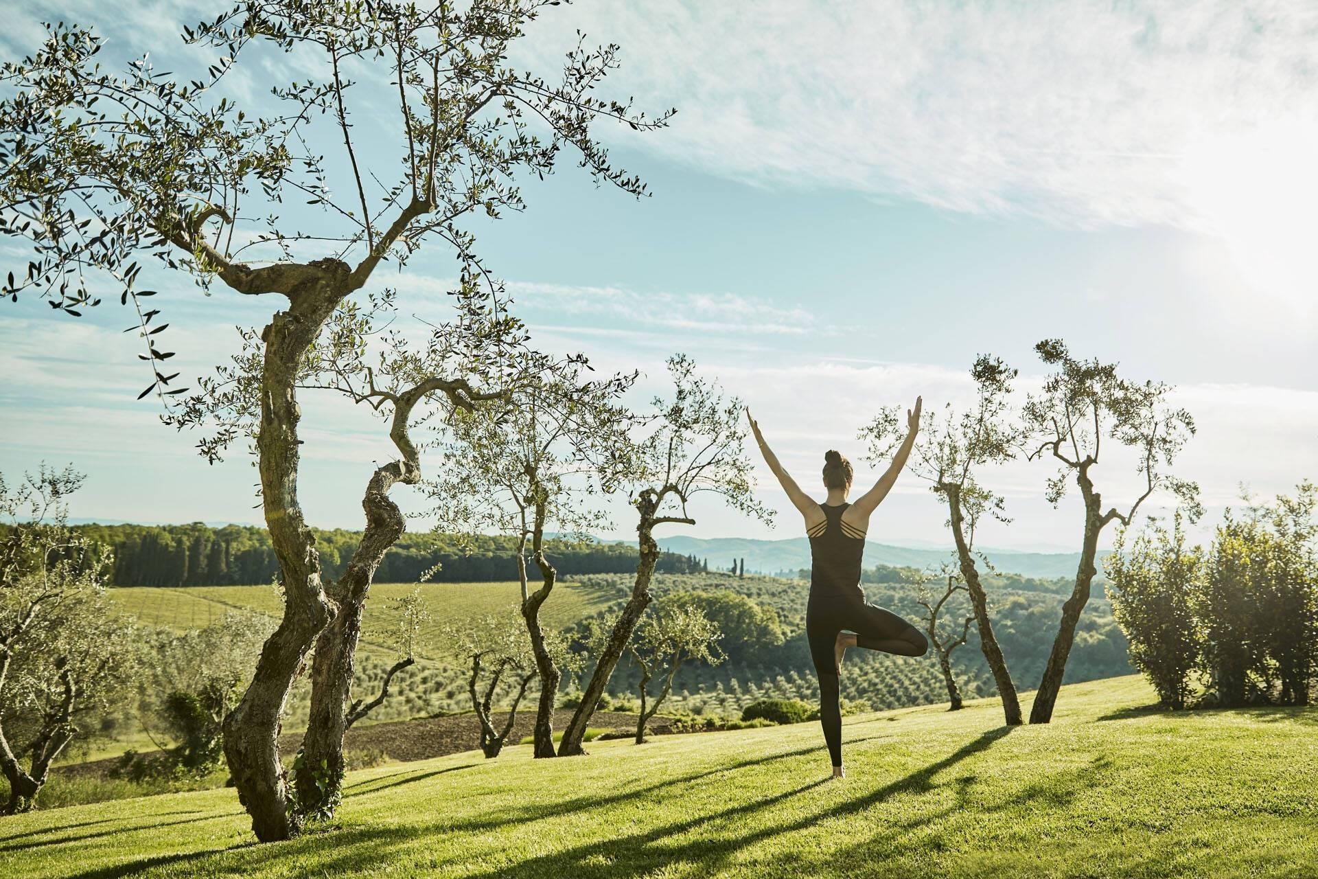 Como Castello del Nero Toscane Yoga Garden