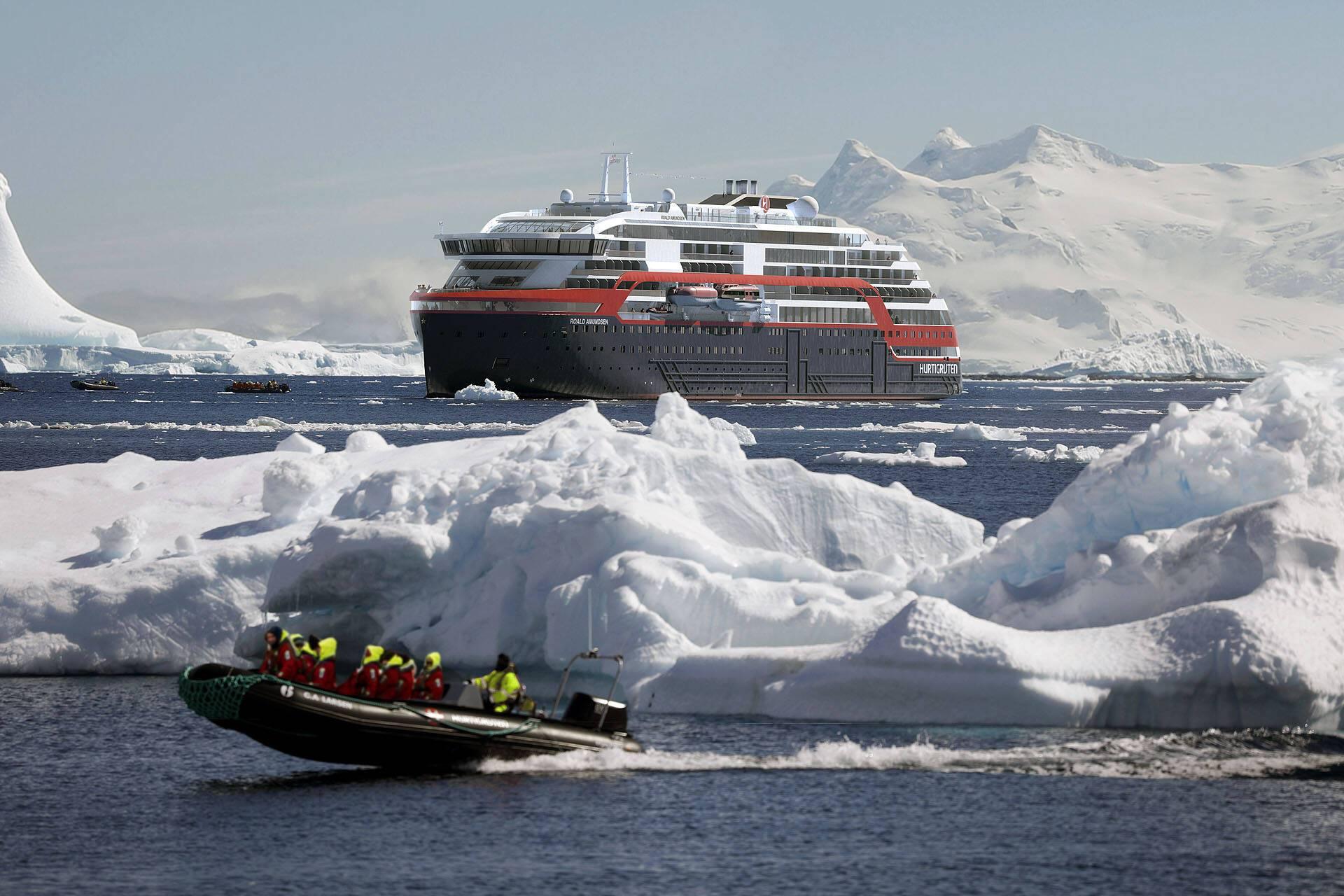 MS Roald Amundsen Antarktis Croisiere Hurtigruten Islande