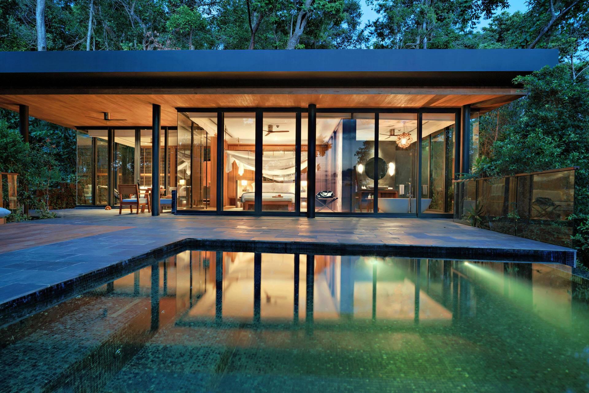 Six Senses Krabey Island Cambodge Ocean Pool Villa Suite night