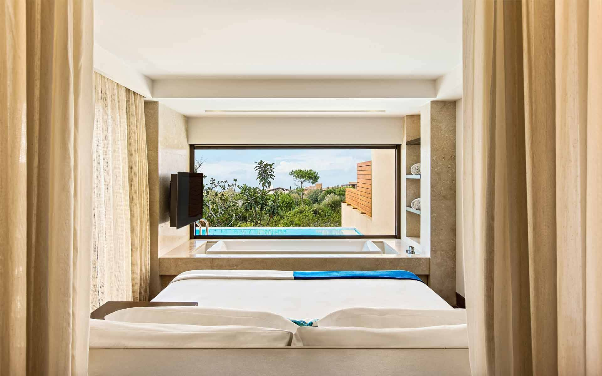 The Romanos Costa Navarino Suite Grand Infinity Chambre Grece
