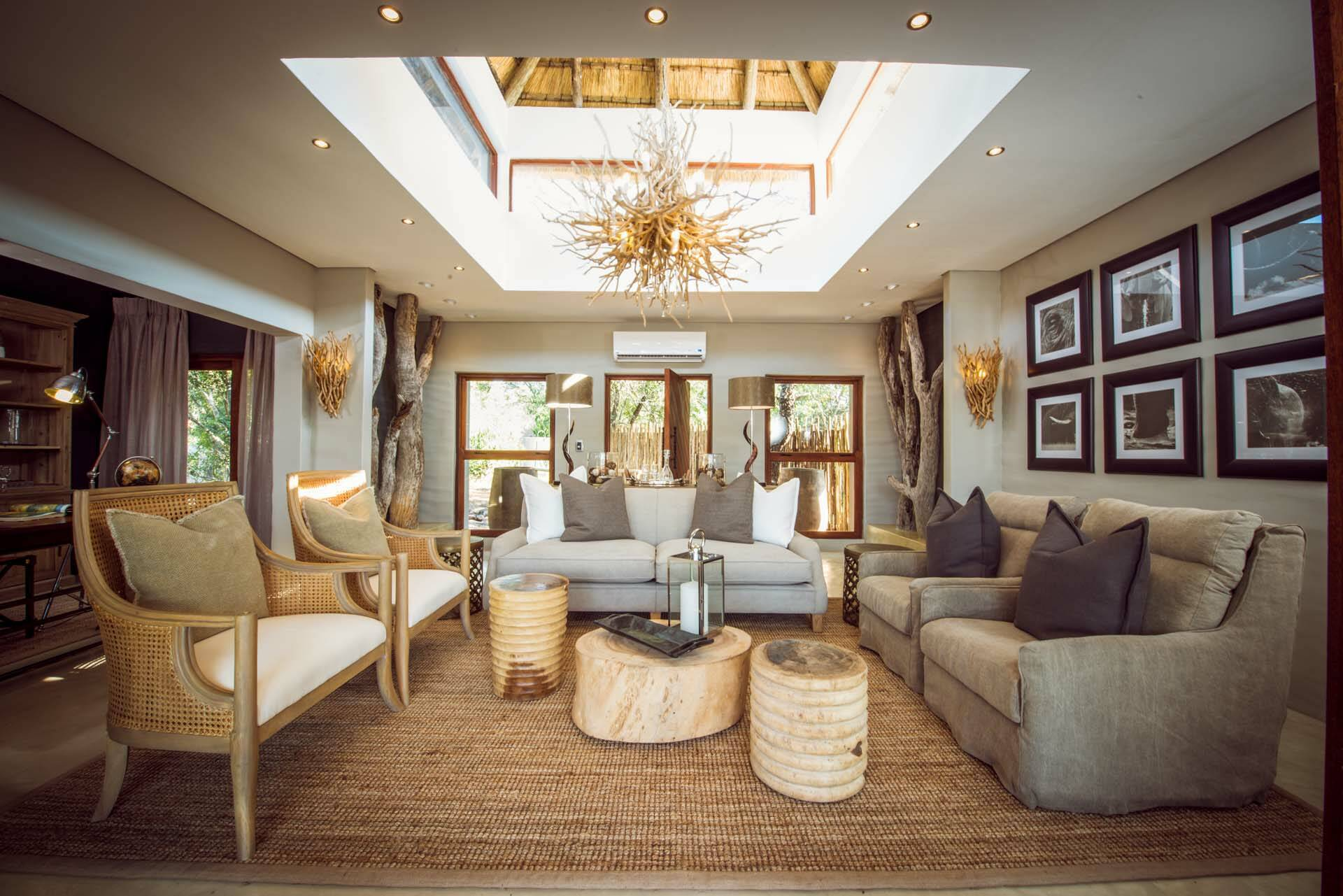 Sabi Sabi Bush Lodge Afrique du Sud Villa Lounge