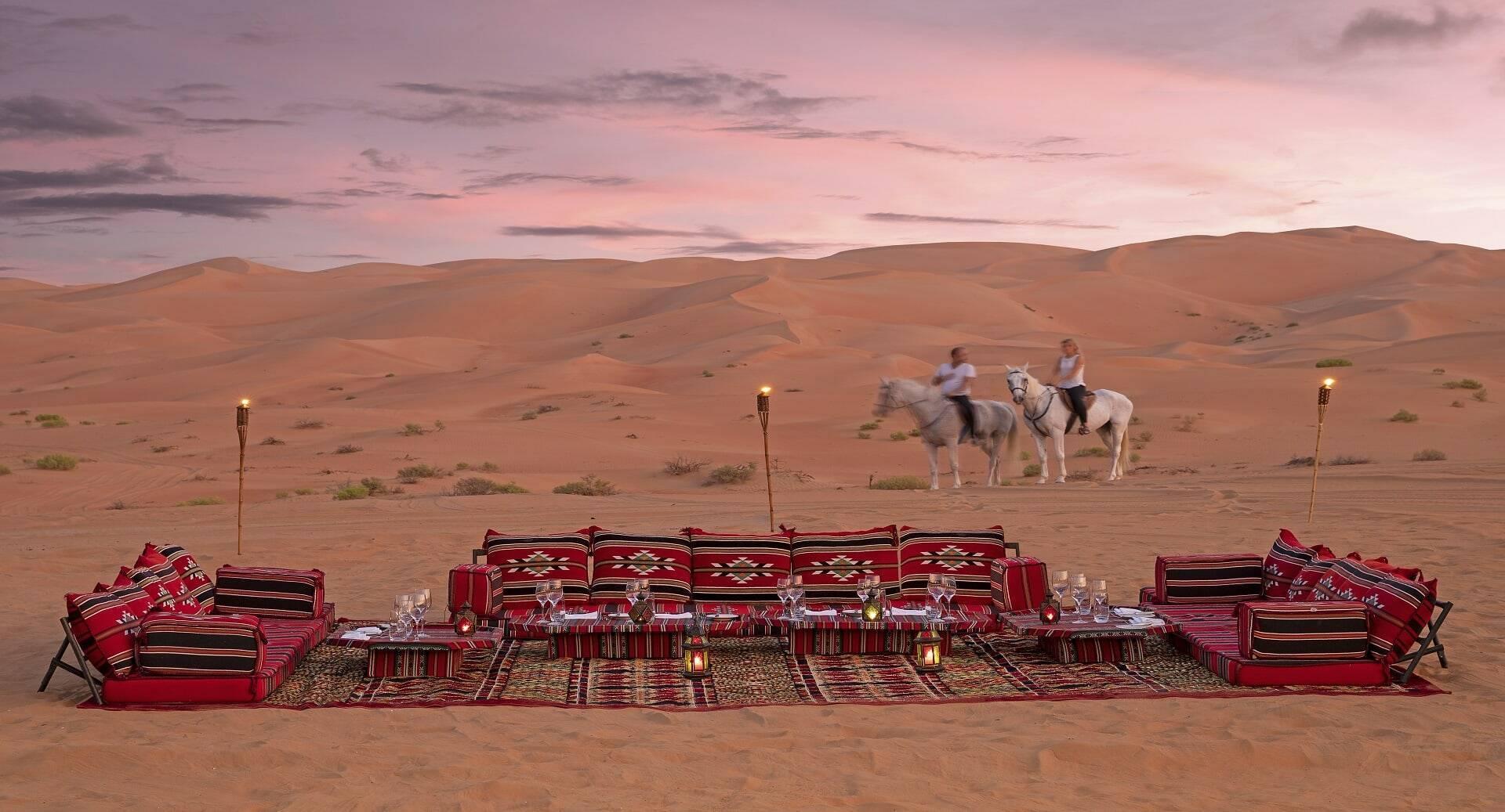 Abu Dhabi Anantara Qasr al Sarab Desert camp horses