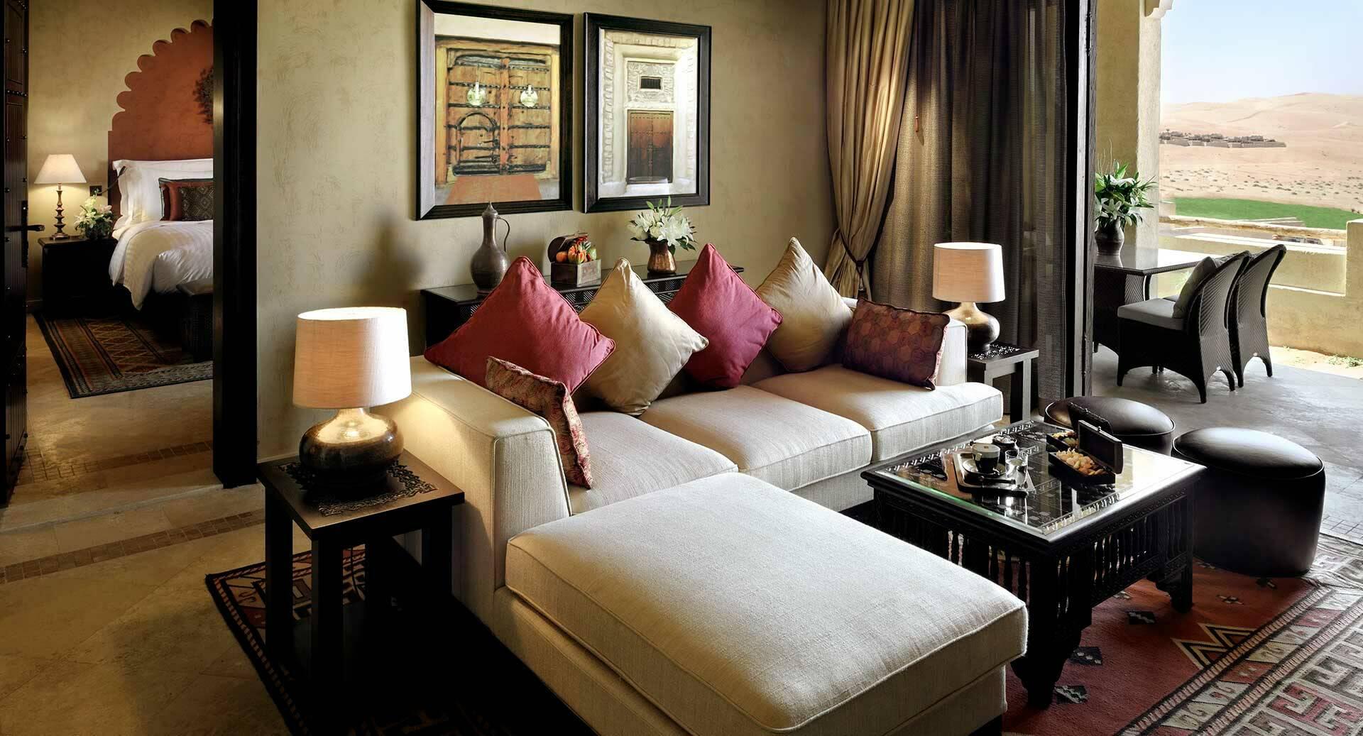 Abu Dhabi Anantara Qasr al Sarab Desert suite living room