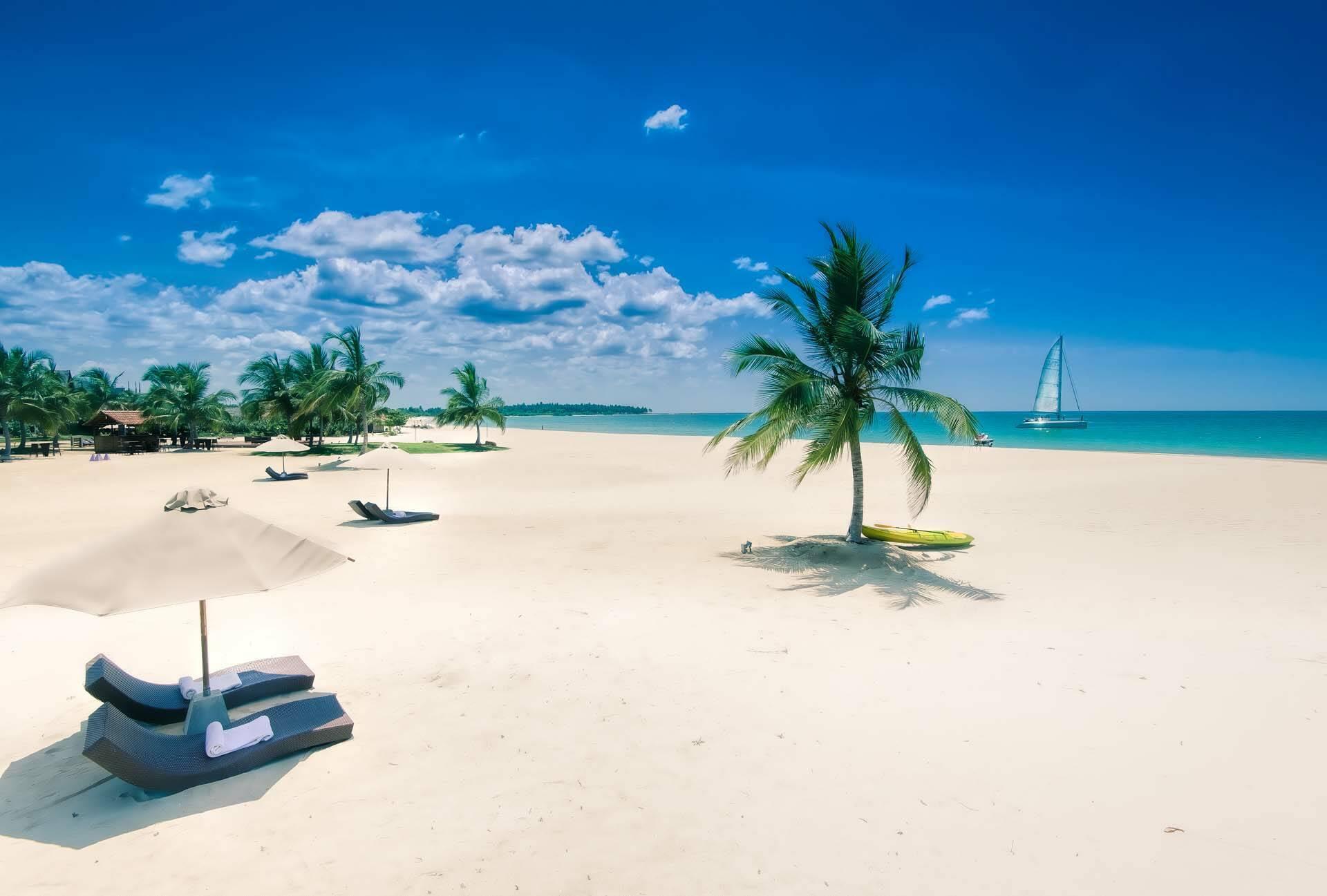 Sri Lanka Uga Bay Plage Midday