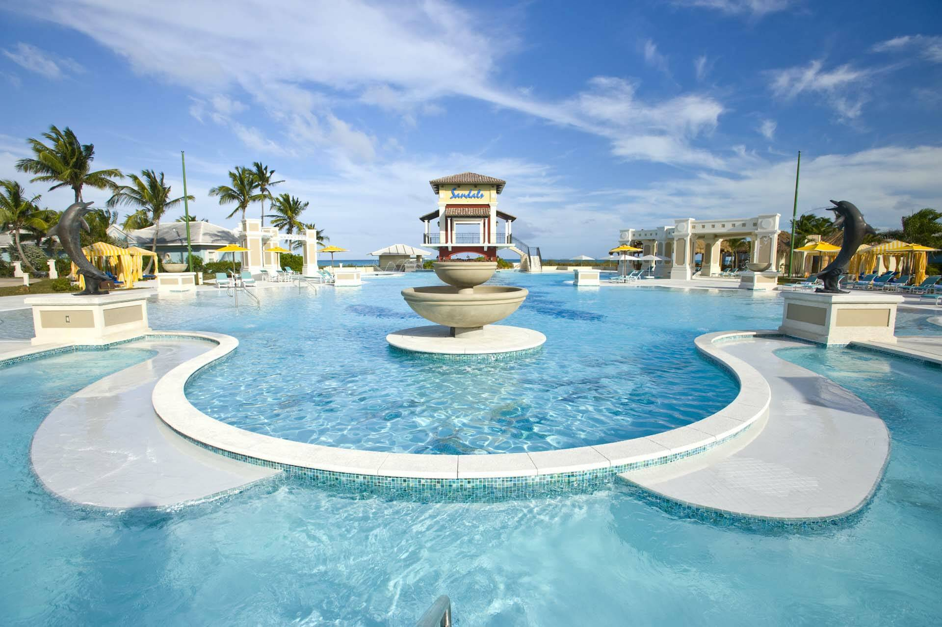 Sandals Emerald Bay Exuma Bahamas Piscine