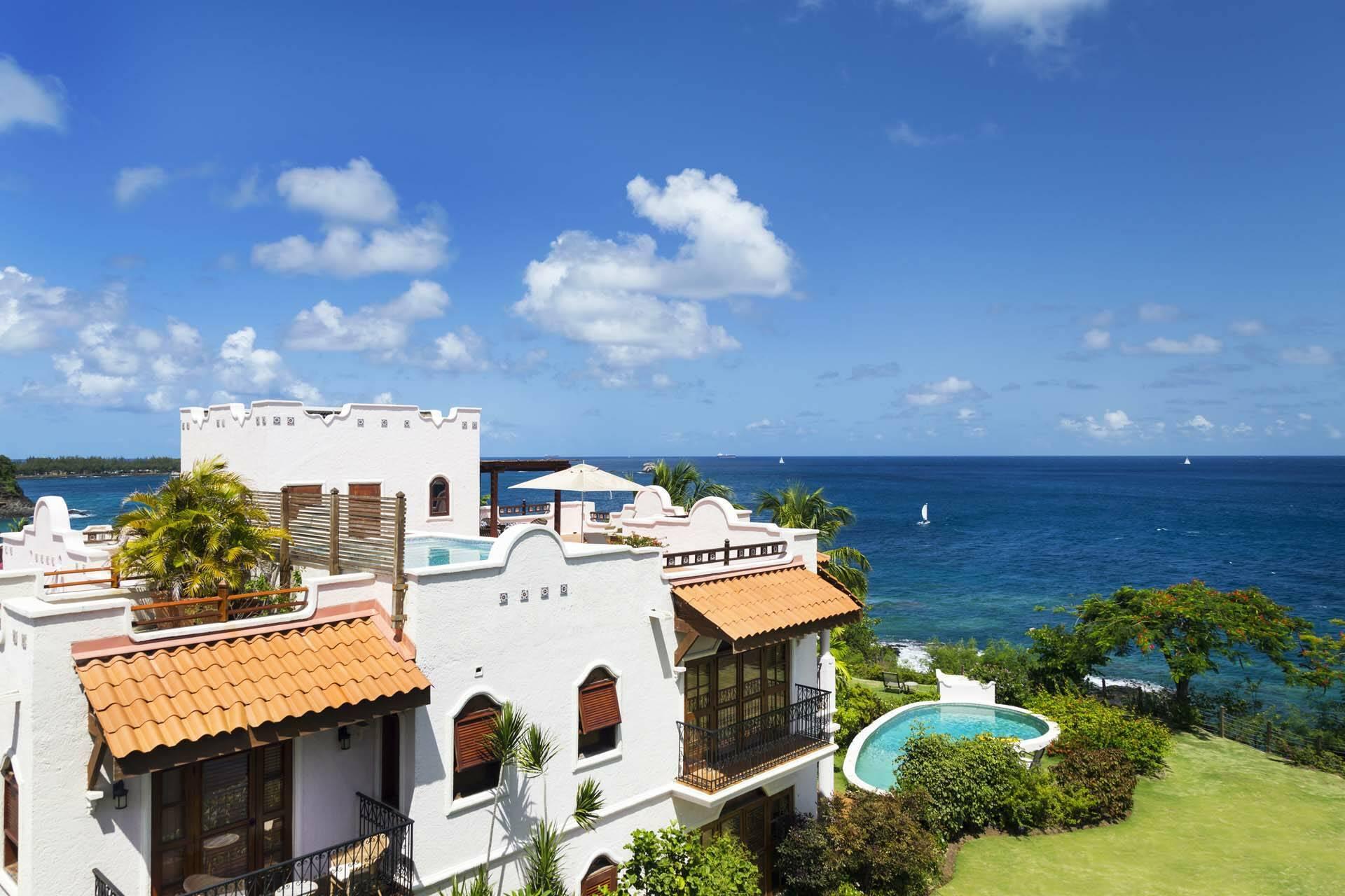 Cap Maison Ocean View Villa Suite Piscine Sainte Lucie