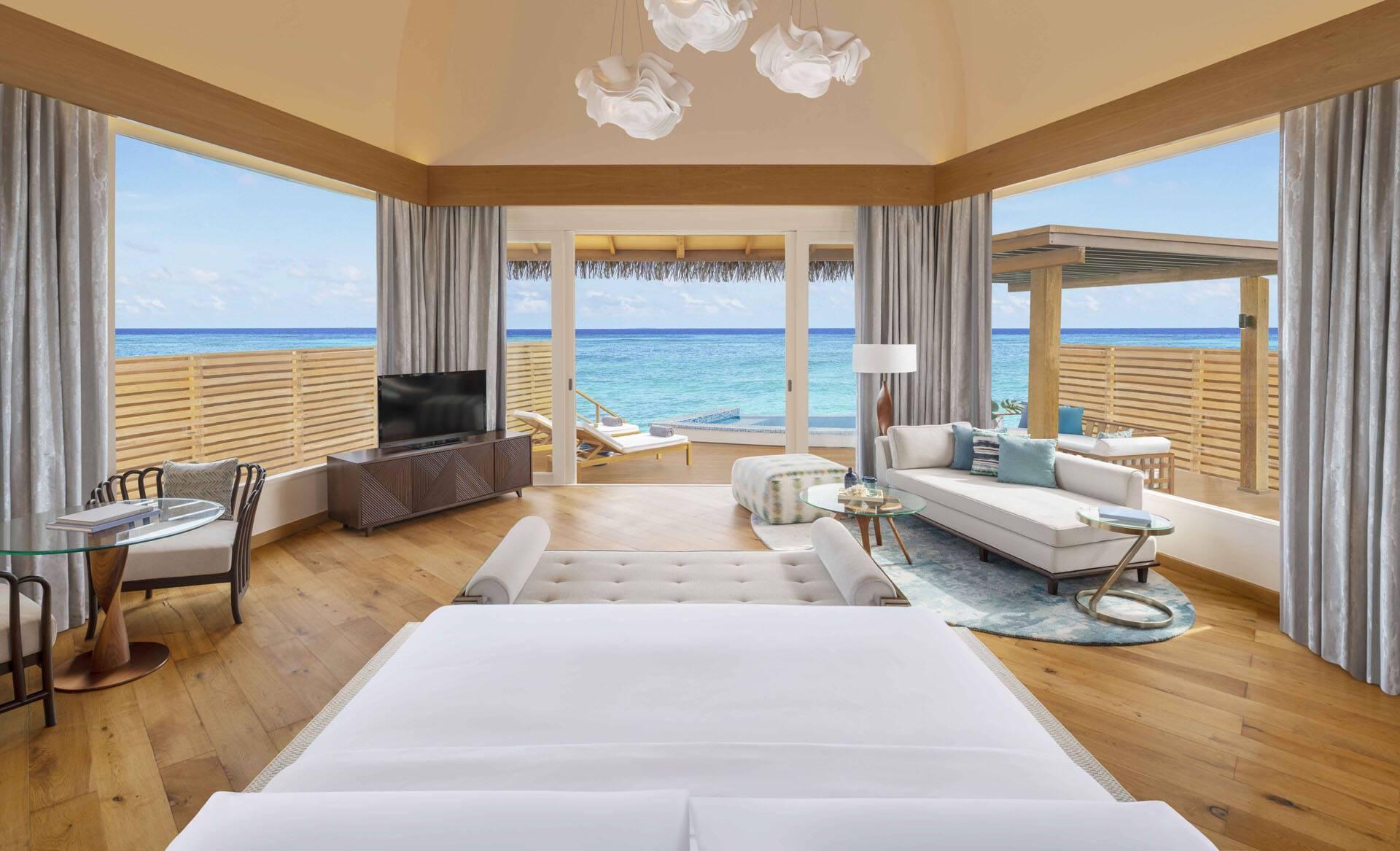 JW Marriott Maldives OverwaterPoolVillaSunset
