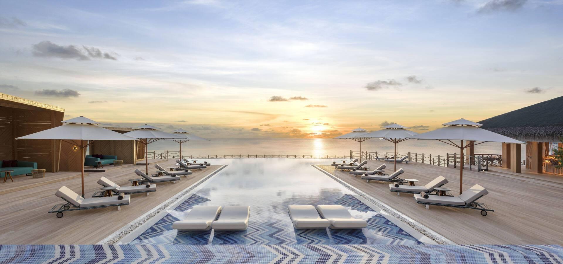 JW Marriott Maldives PoolSunset