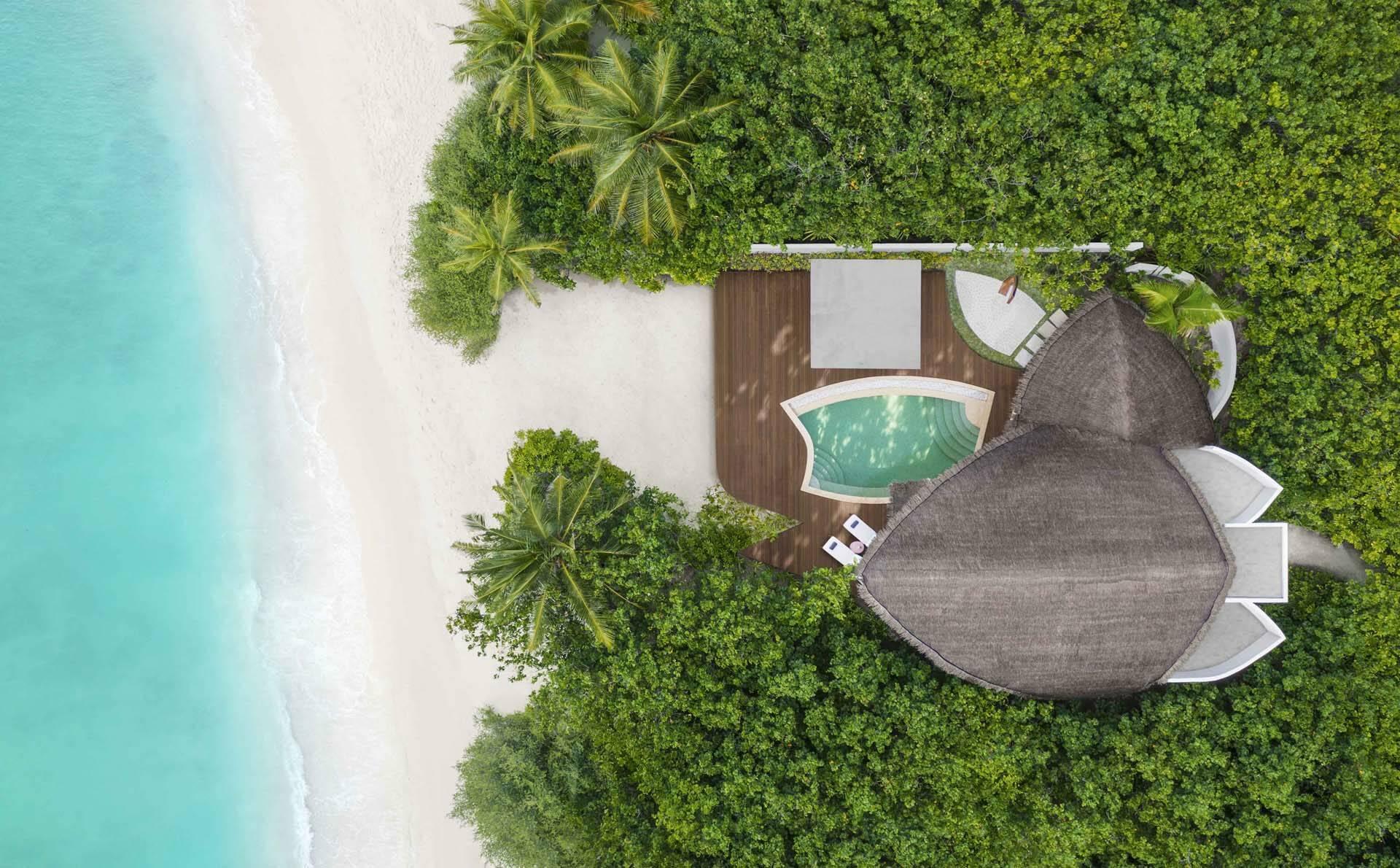 JW Marriott Maldives beach pool villa