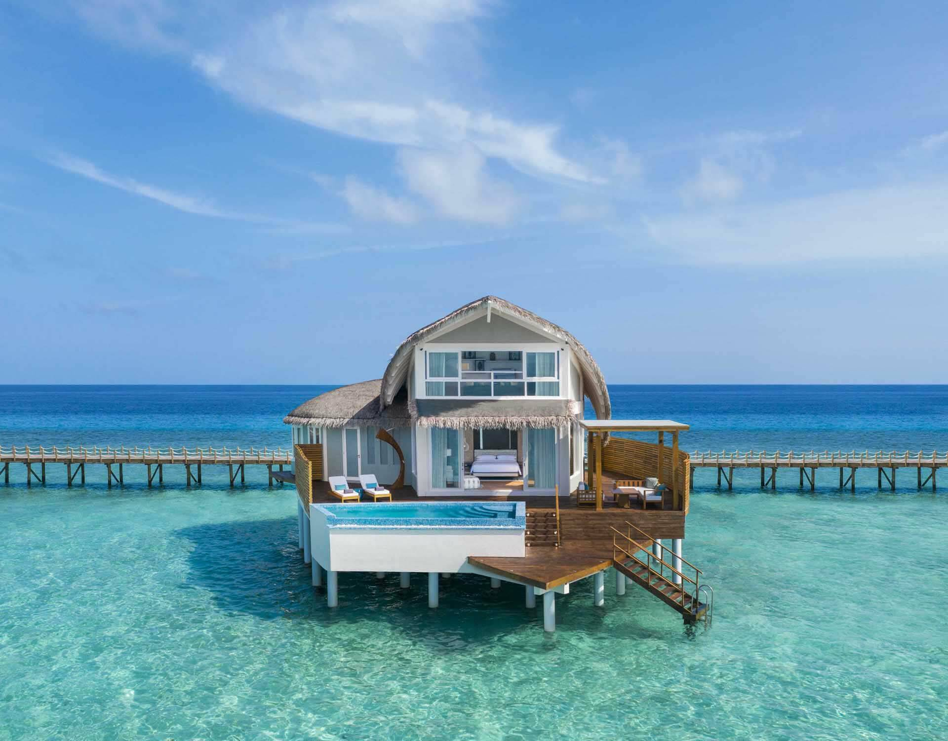 JW Marriott Maldives overwater pool villa