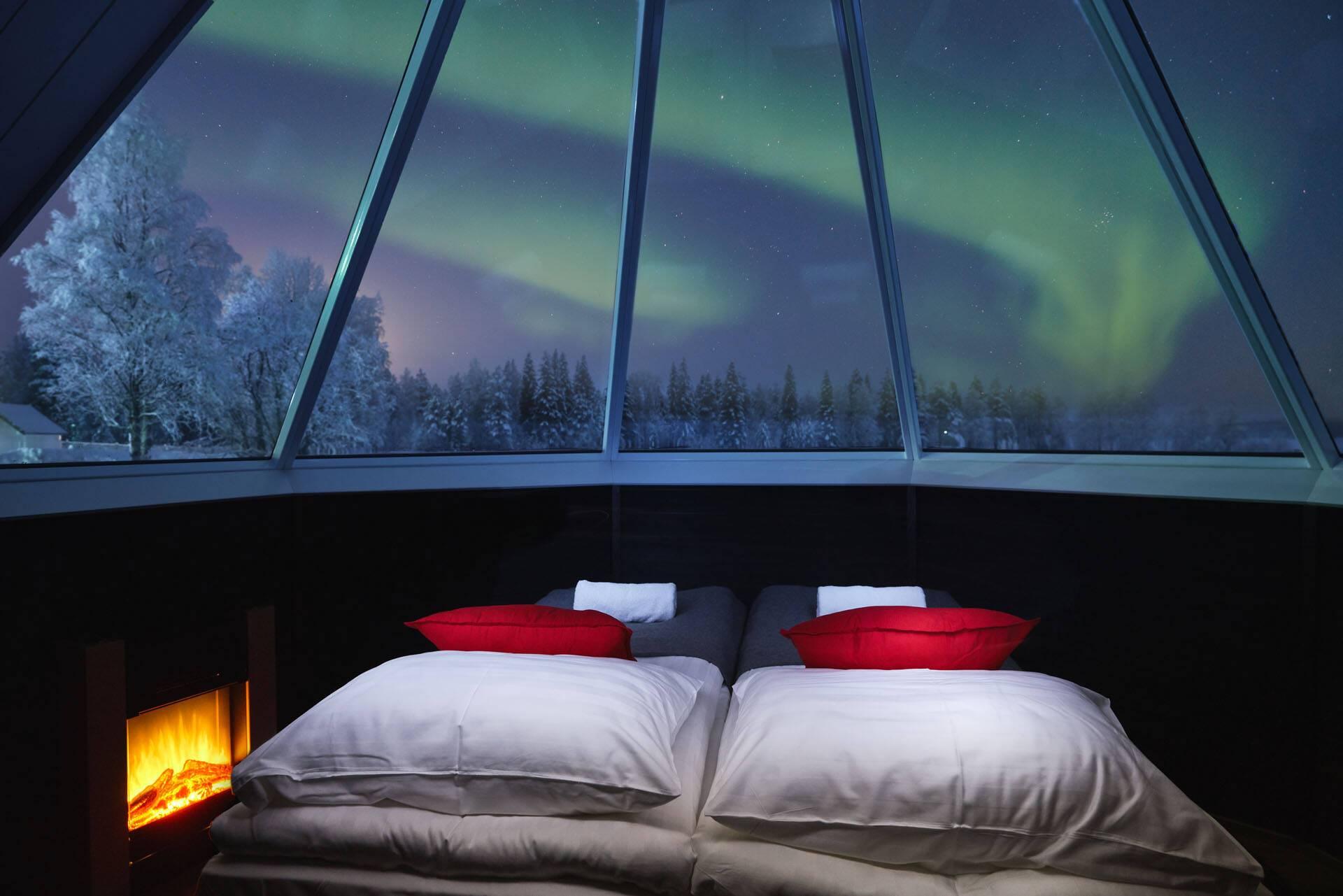 Apukka Resort Laponie Aurora Cabin inside