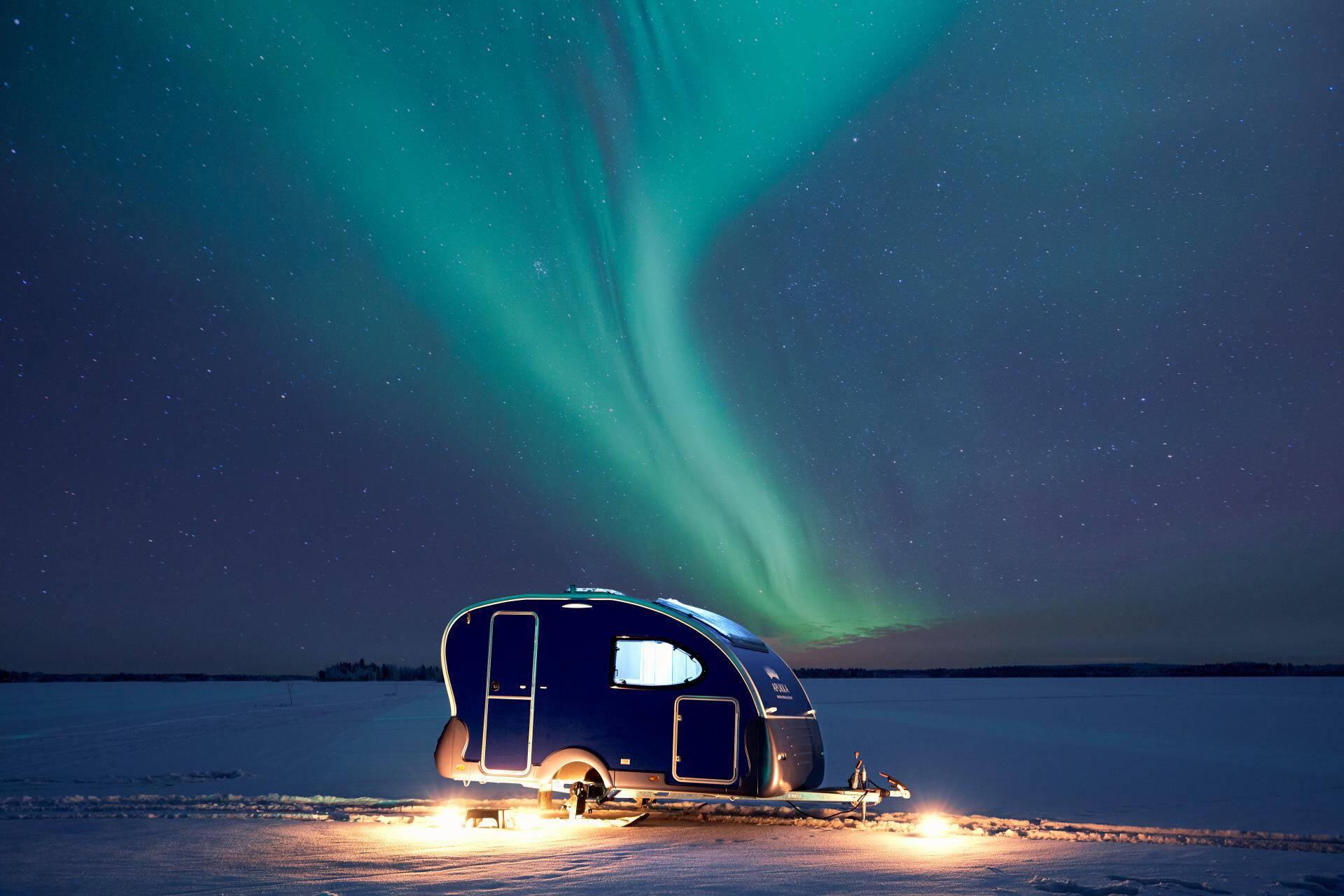 Apukka Resort Laponie Aurora Wagon outside