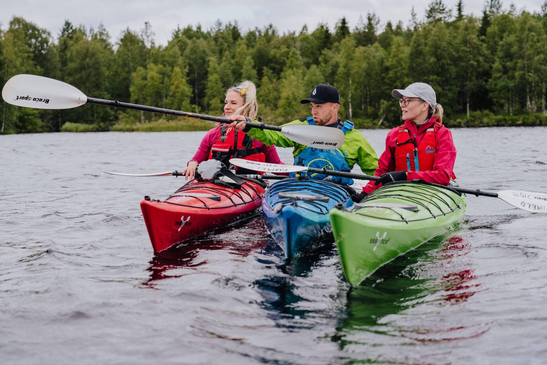 Apukka Resort Laponie Kayaking