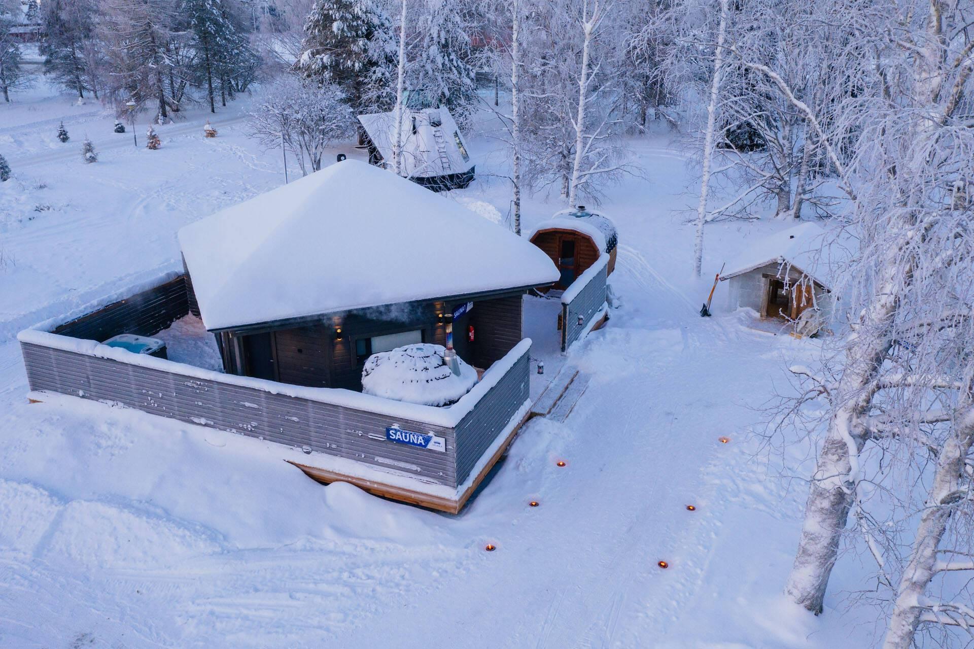 Apukka Resort Laponie Sauna Glace