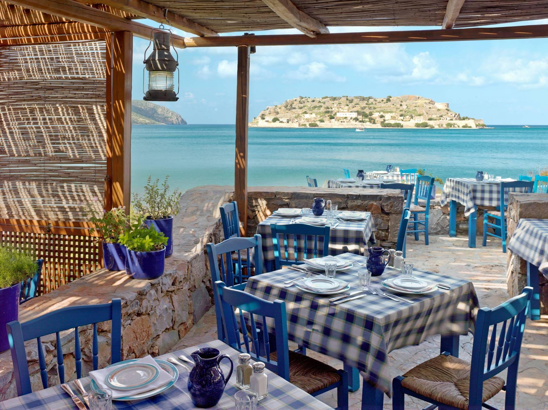 Blue Palace Crete Blue Door Restaurant