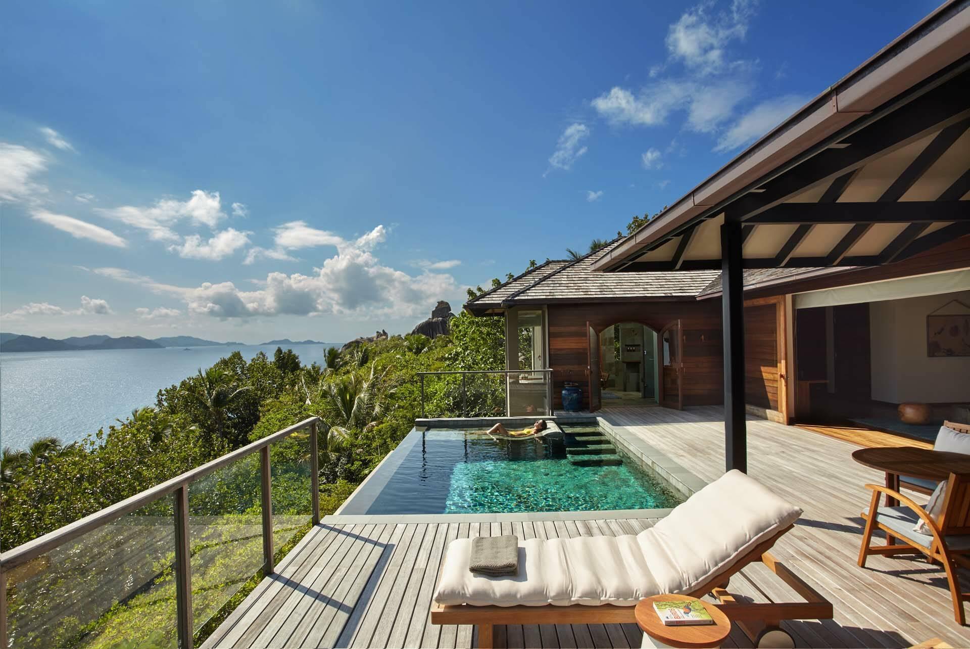 Seychelles Six Senses Zil Pasyon panorama pool villa