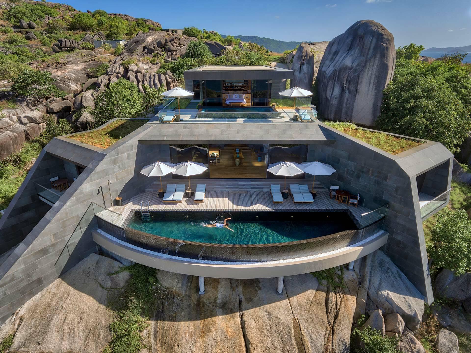 Seychelles Six Senses Zil Pasyon residence view