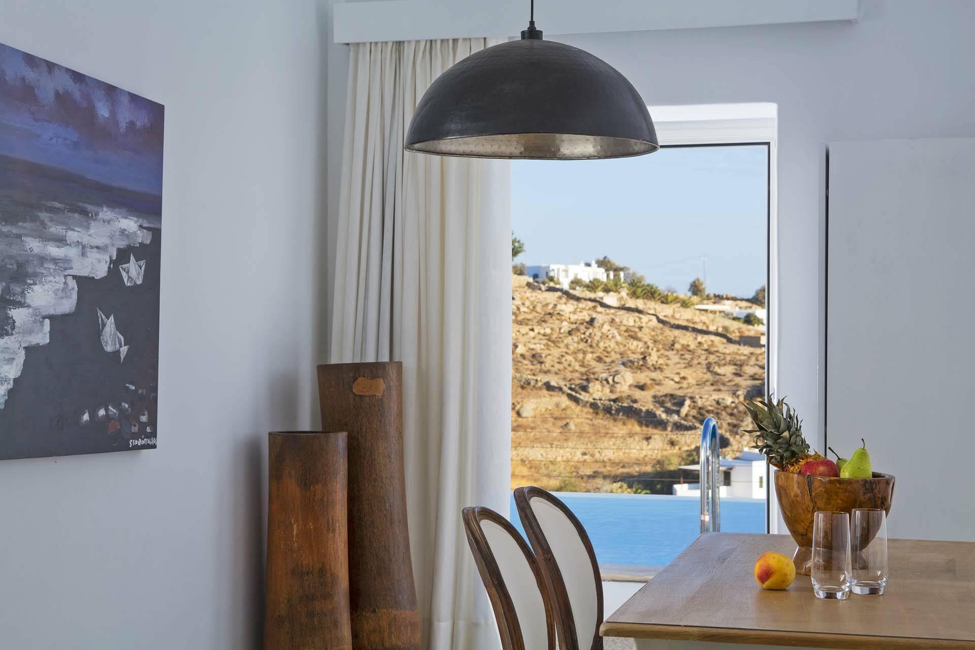 Myconian Ambassador Mykonos salon villa vue