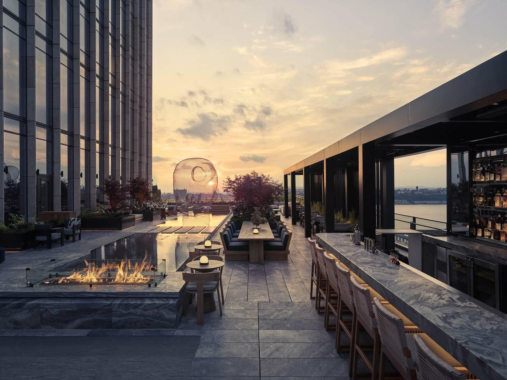 New York Equinox  Hudson Yards Electric Lemon Outdoor Rooftop