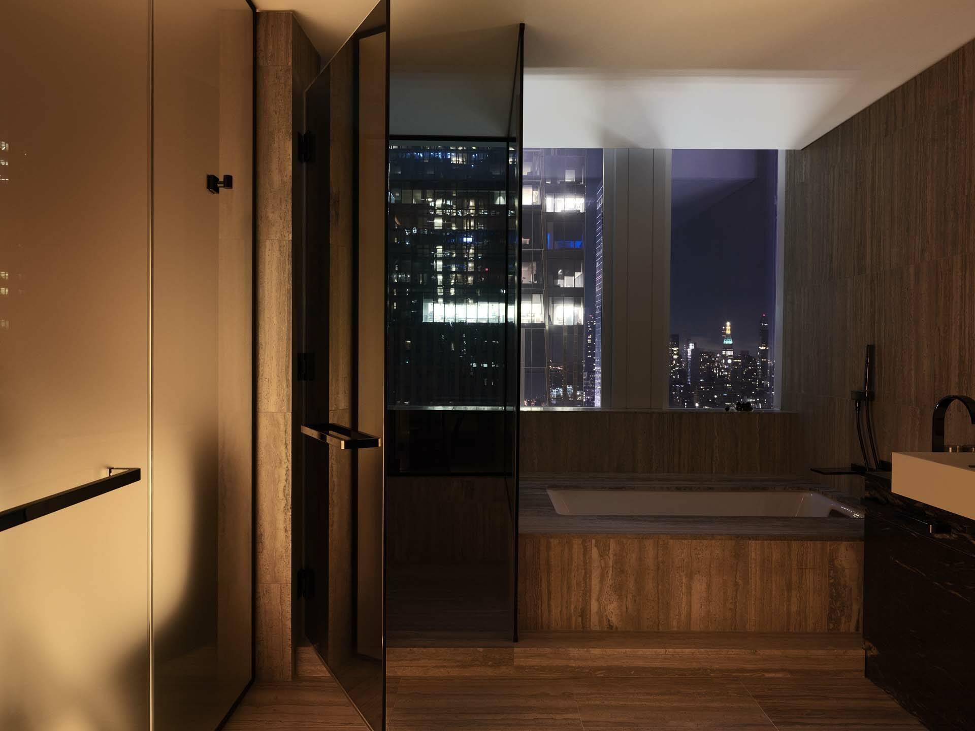 New York Equinox Hudson Yards Suite Bathroom