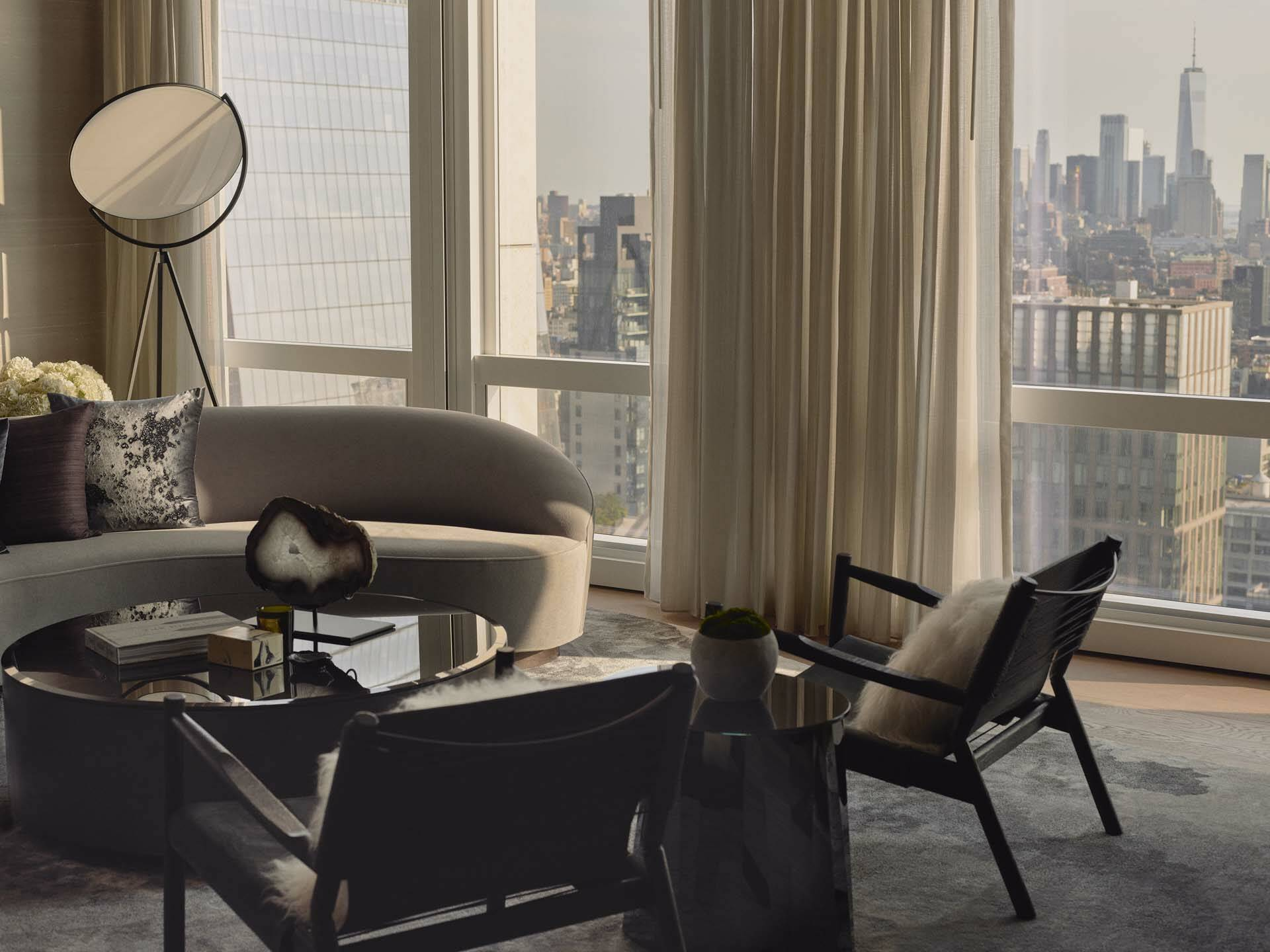 New York Equinox Hudson Yards Suite Living Room Day