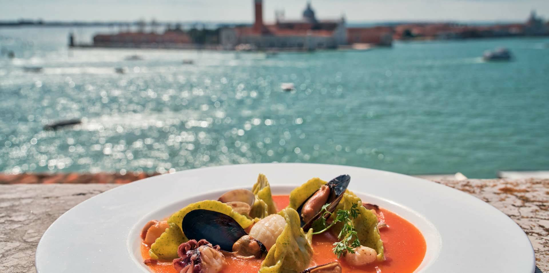 Venise Londra Palace plat fruits de mer