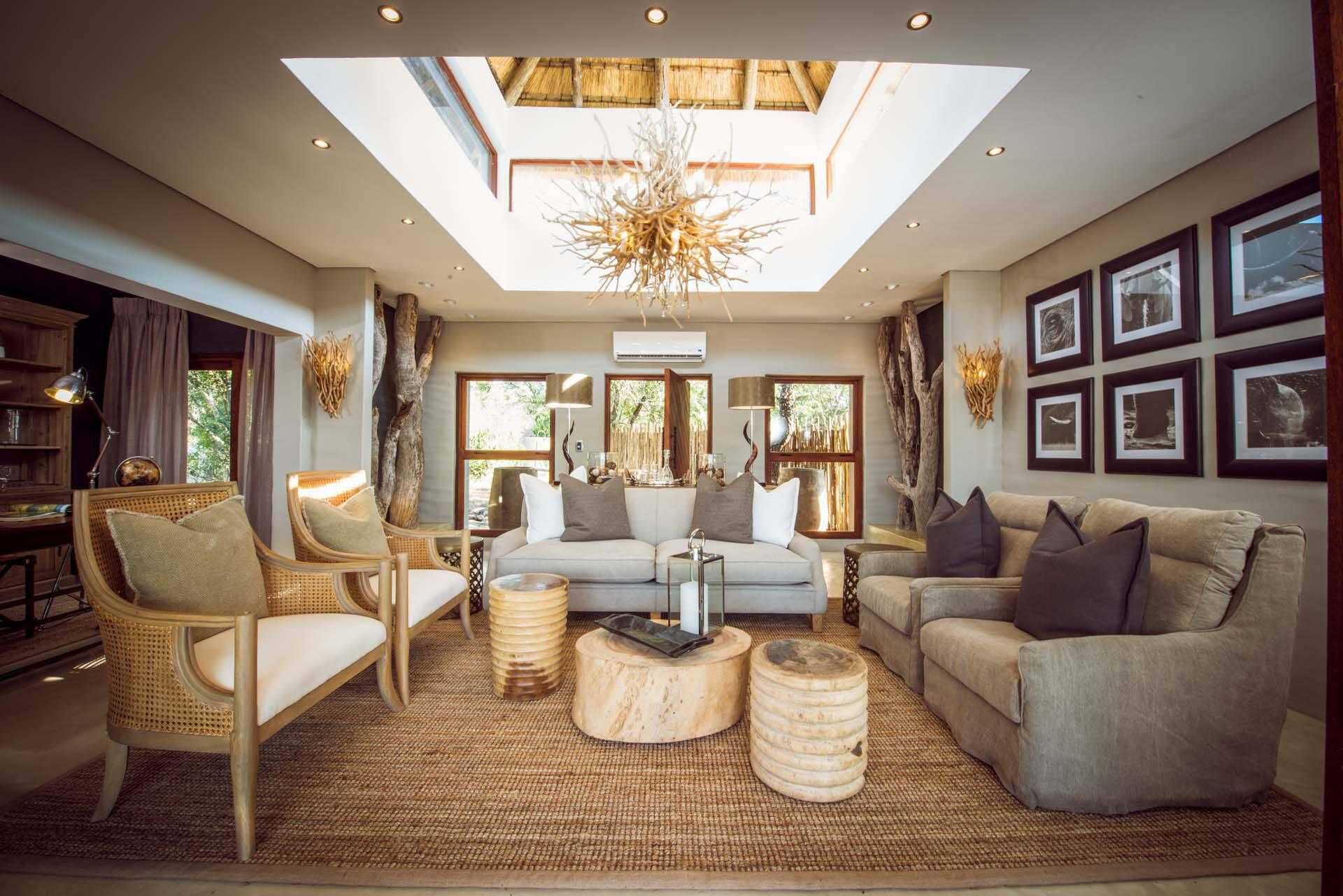 Sabi Sabi Bush Lodge Afrique du Sud Villa Lounge
