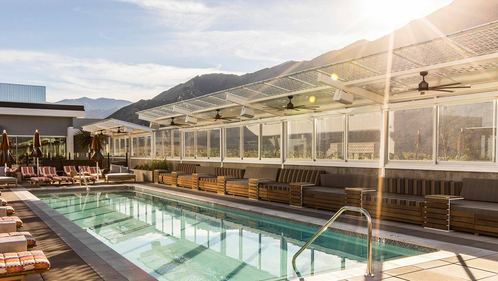 Kimpton Rowan Palm Springs Roof Top Californie