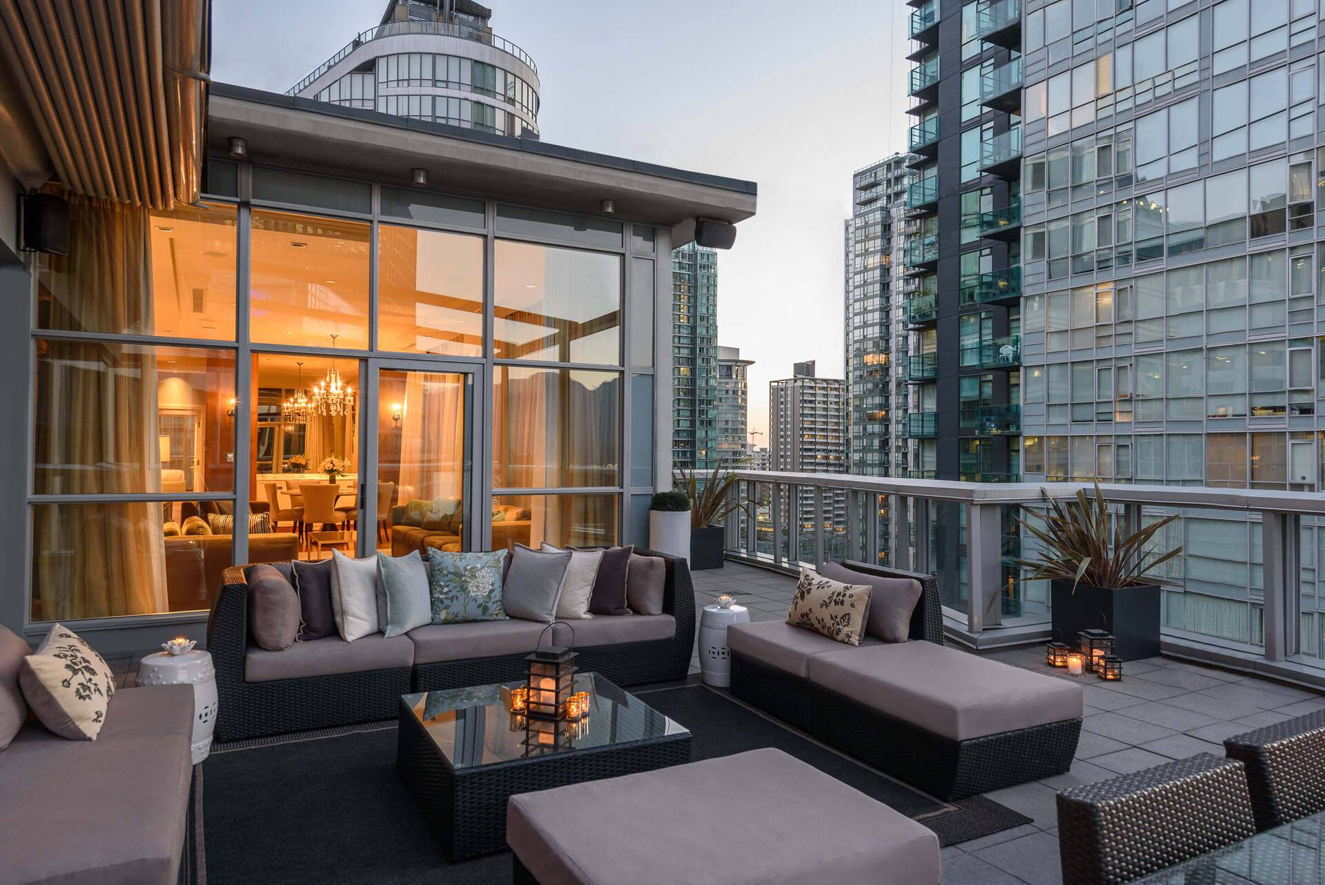 Loden Hotel Vancouver Terrasse