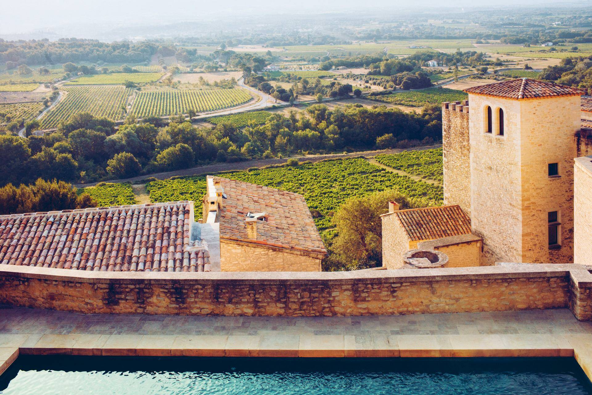 Hotel crillon le brave vue piscine Provence Maisons Pariente