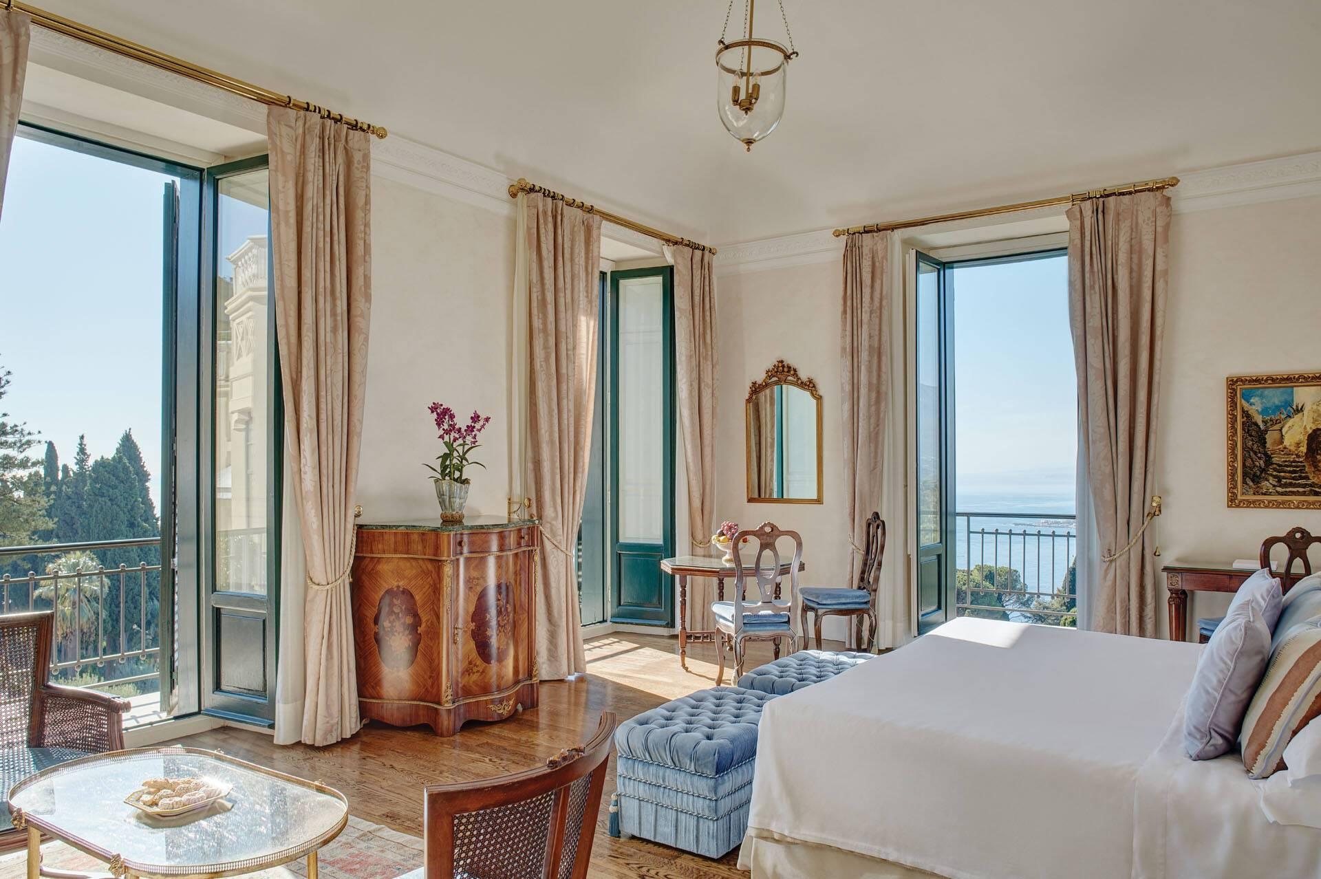 Grand Hotel Timeo Taormine Sicile Chambre vue