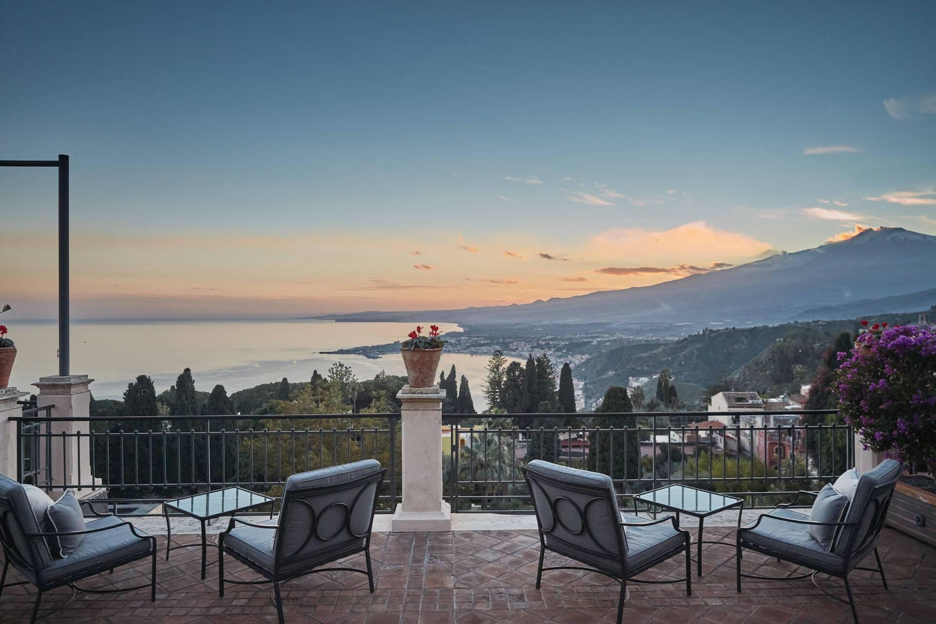 Grand Hotel Timeo Taormine Sicile Vue Etna