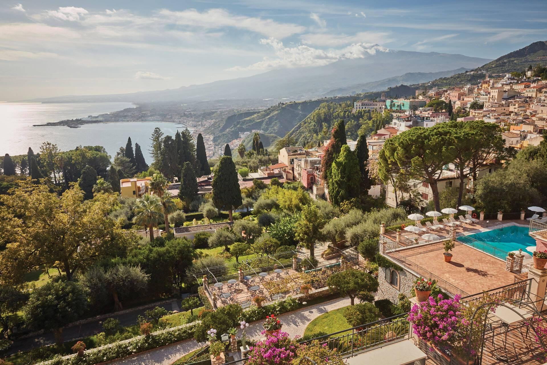 Grand Hotel Timeo Taormine Sicile Vue