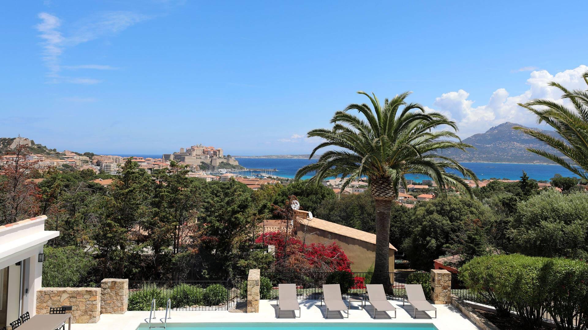 Corse Villa Calvi Vue Calvi