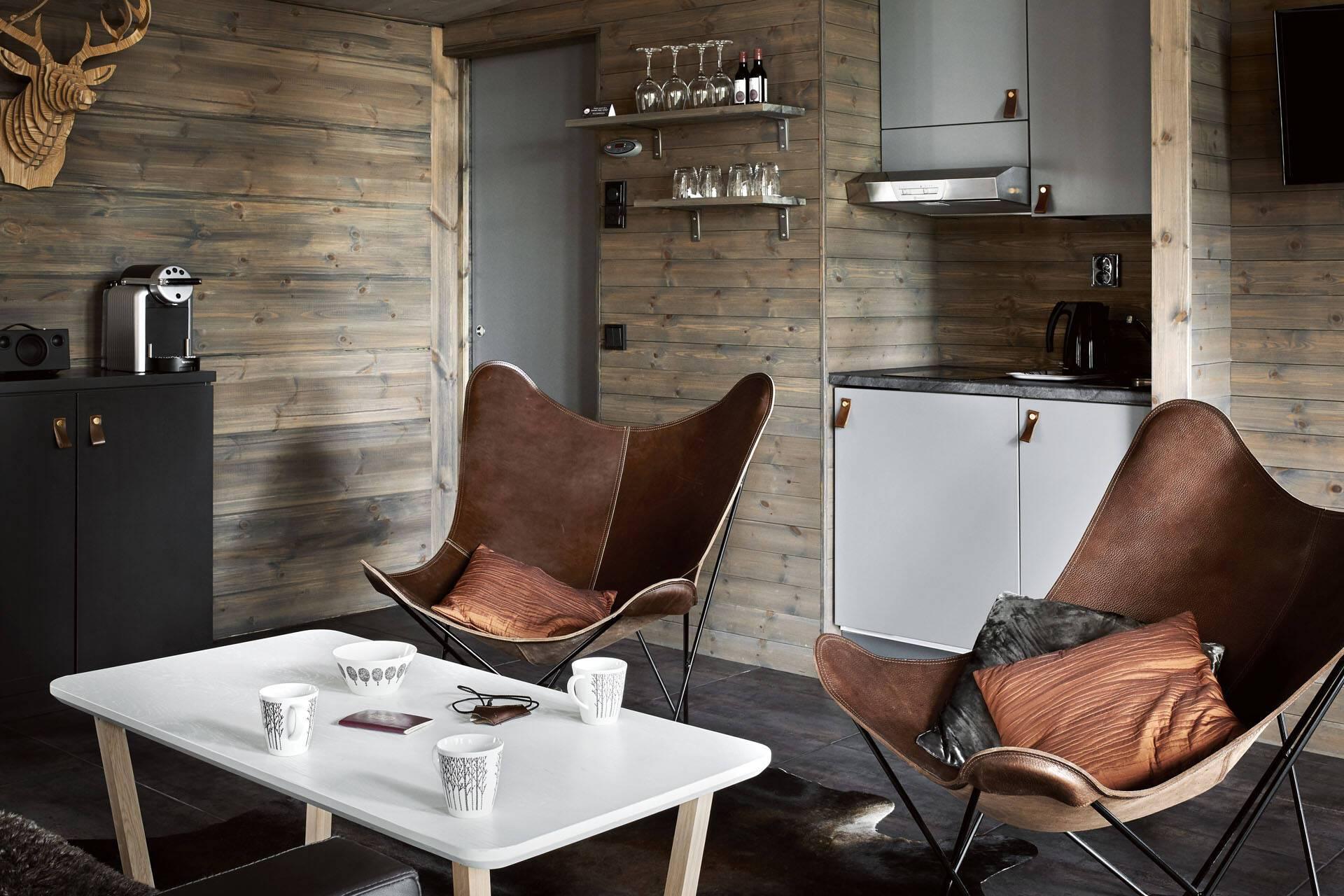 Laponie Finlandaise Arctic GlassHouse Lounge Area