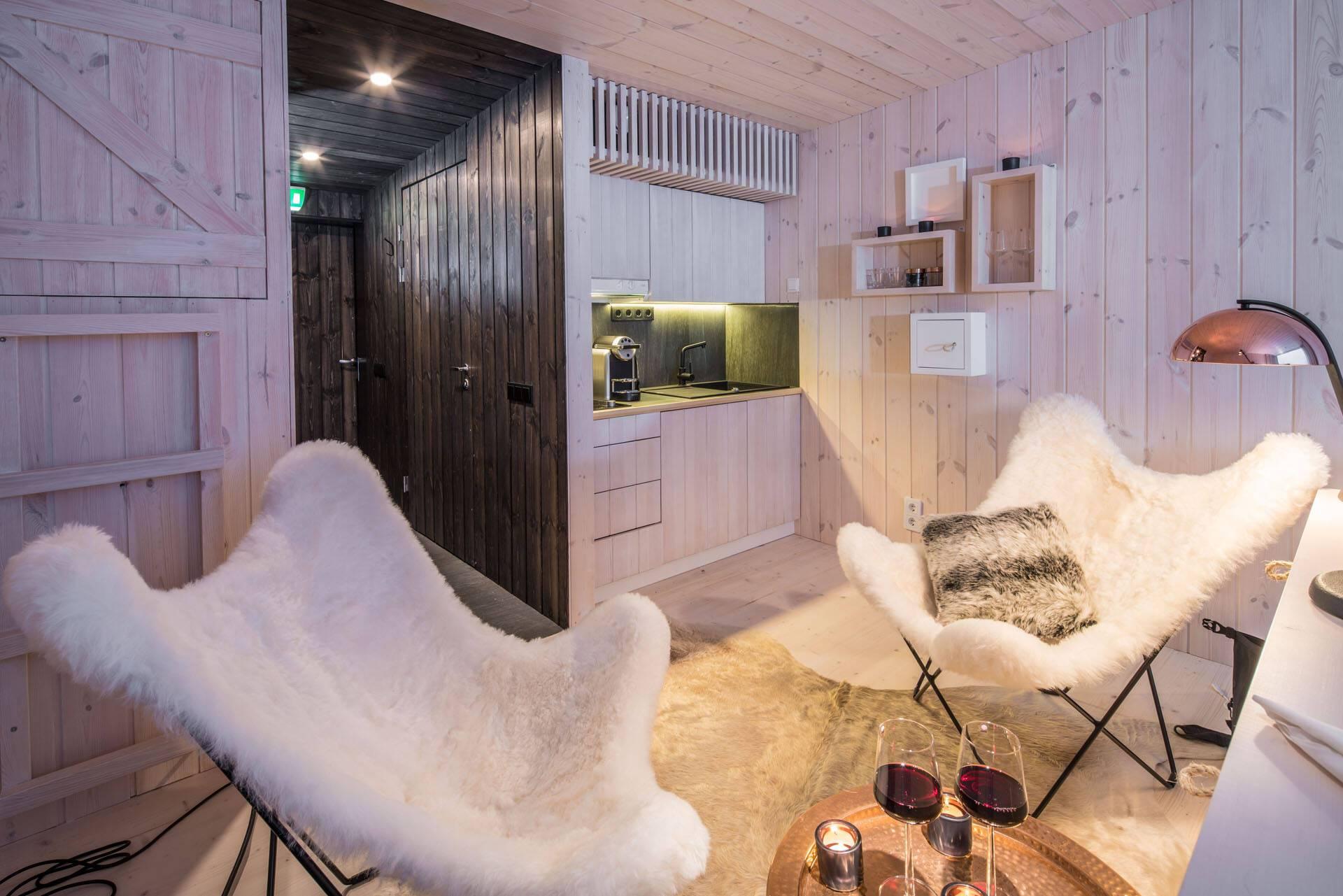 Laponie Finlandaise Arctic TreeHouse Kitchenette