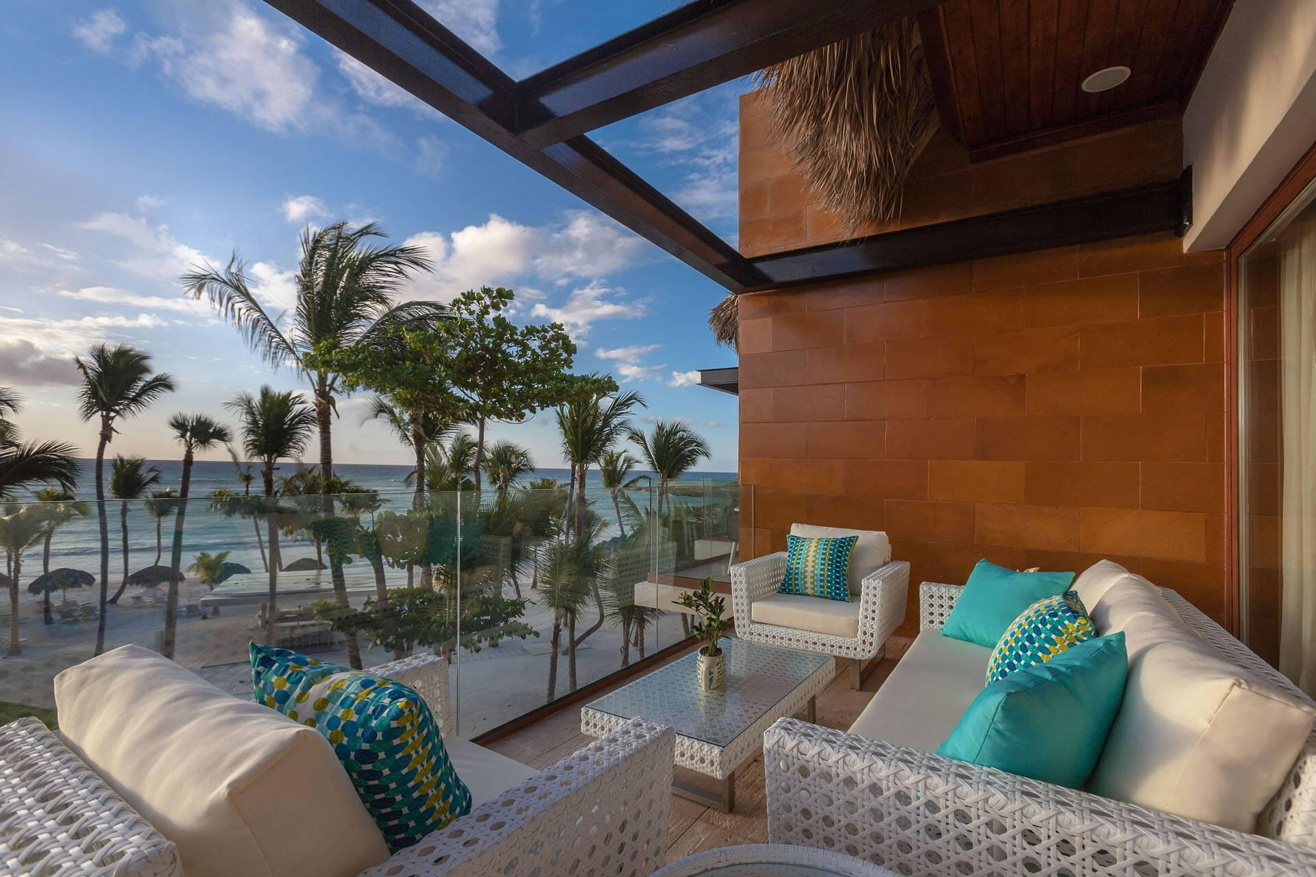 Eden Roc Cap Cana Punta Cana Rep Republicaine Beachfront Suite Terrasse