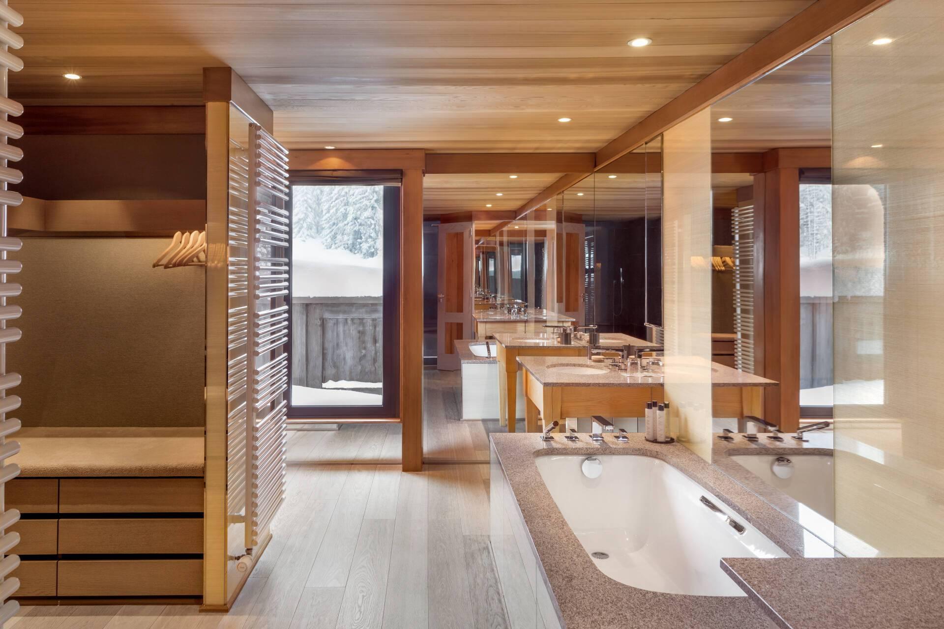 Aman Le Melezin Courchevel Chambre Ski Piste Salle Bains