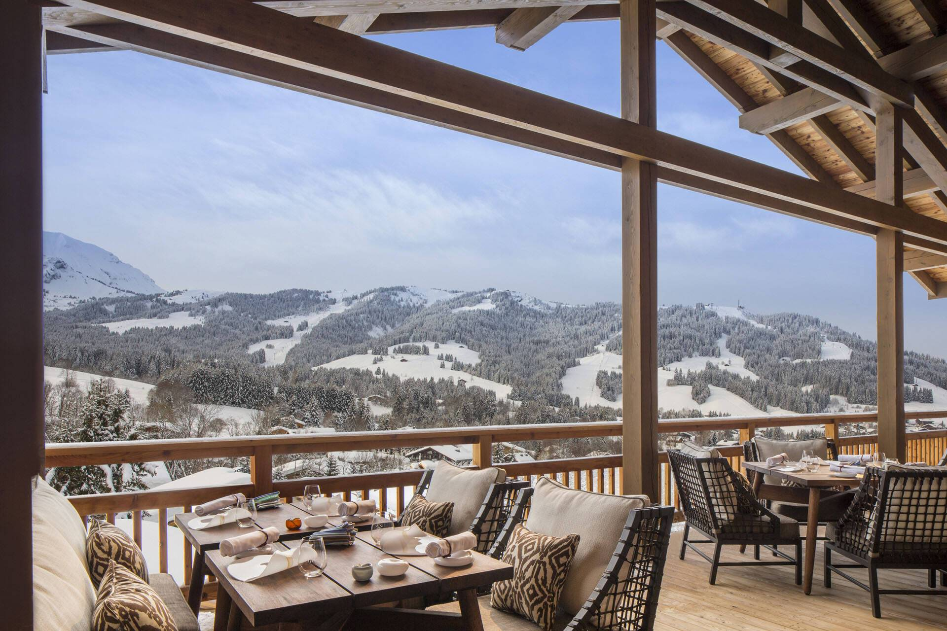 Four Seasons Hotel Megeve Terrasse Vue