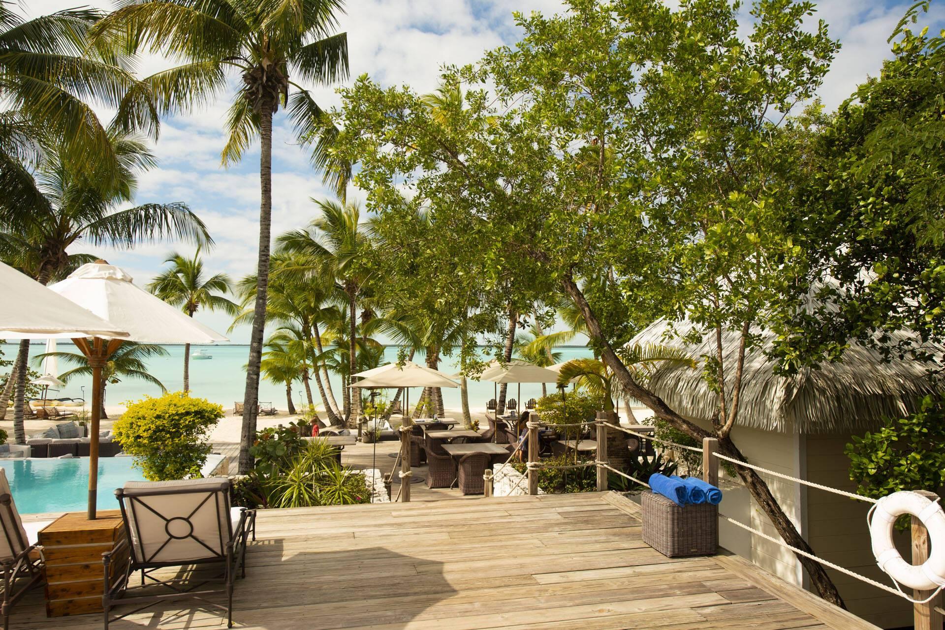 Tiamo Resort Bahamas Andros Terrasse